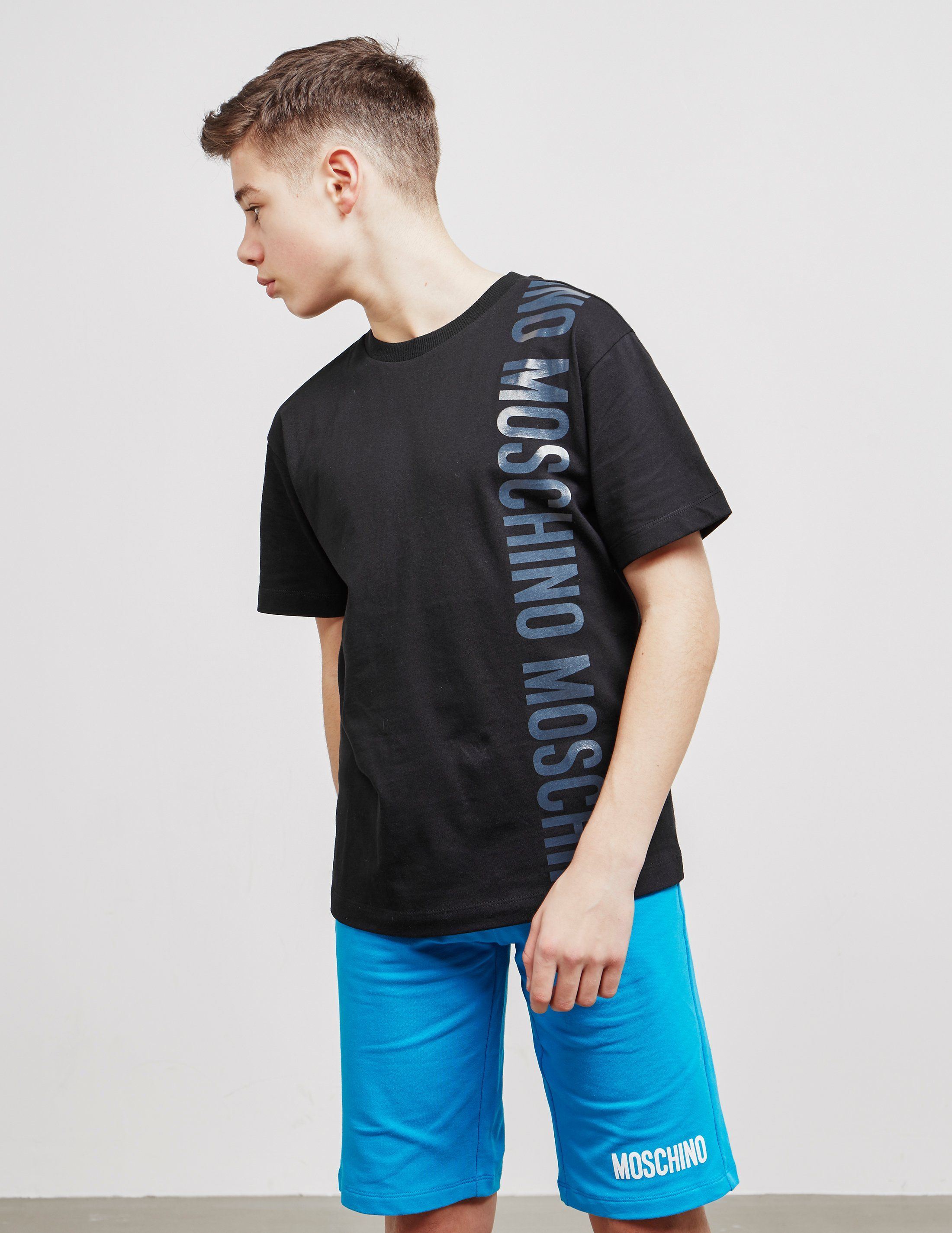 Moschino Vertical Logo Short Sleeve T-Shirt