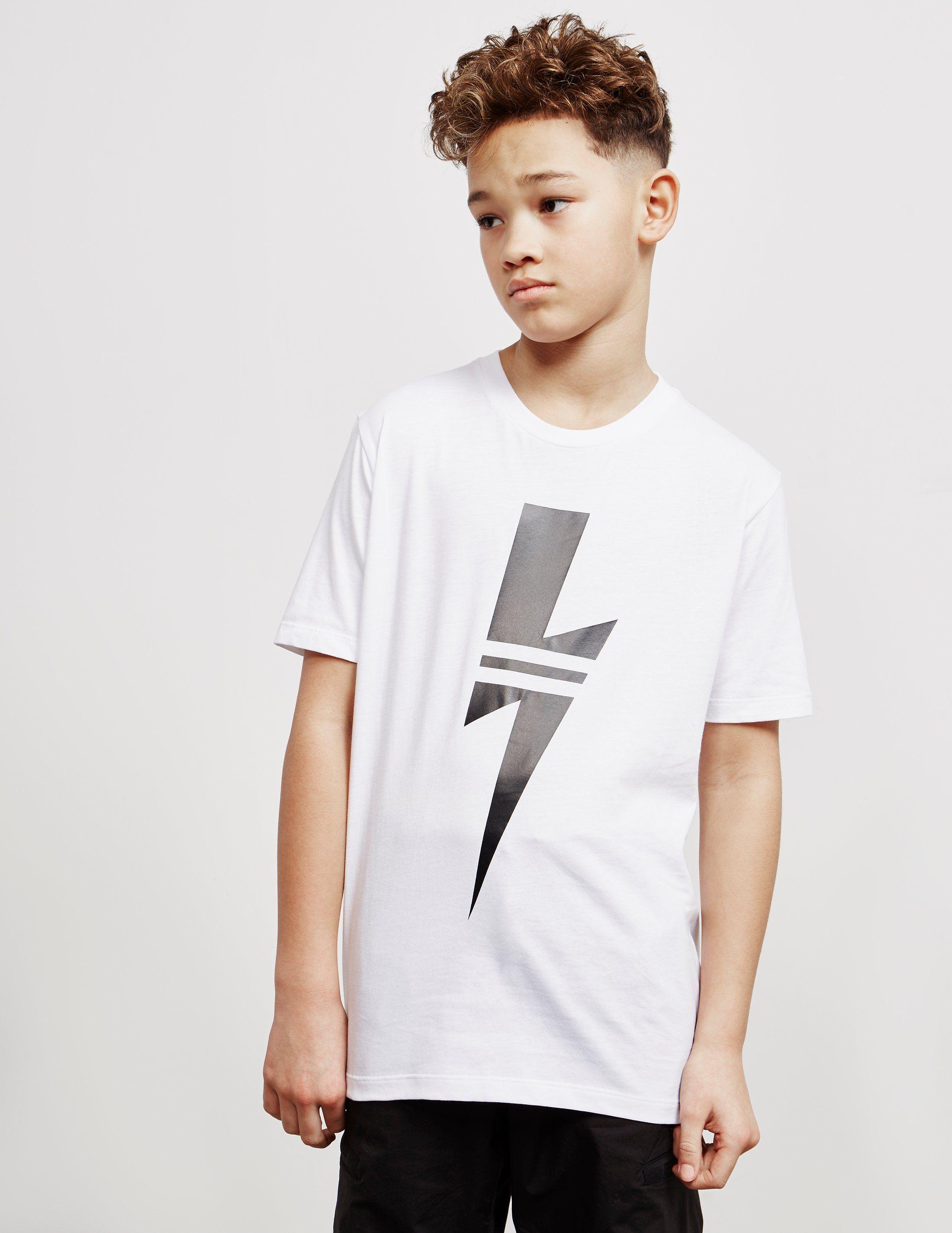 Neil Barrett Split Bolt Short Sleeve T-Shirt