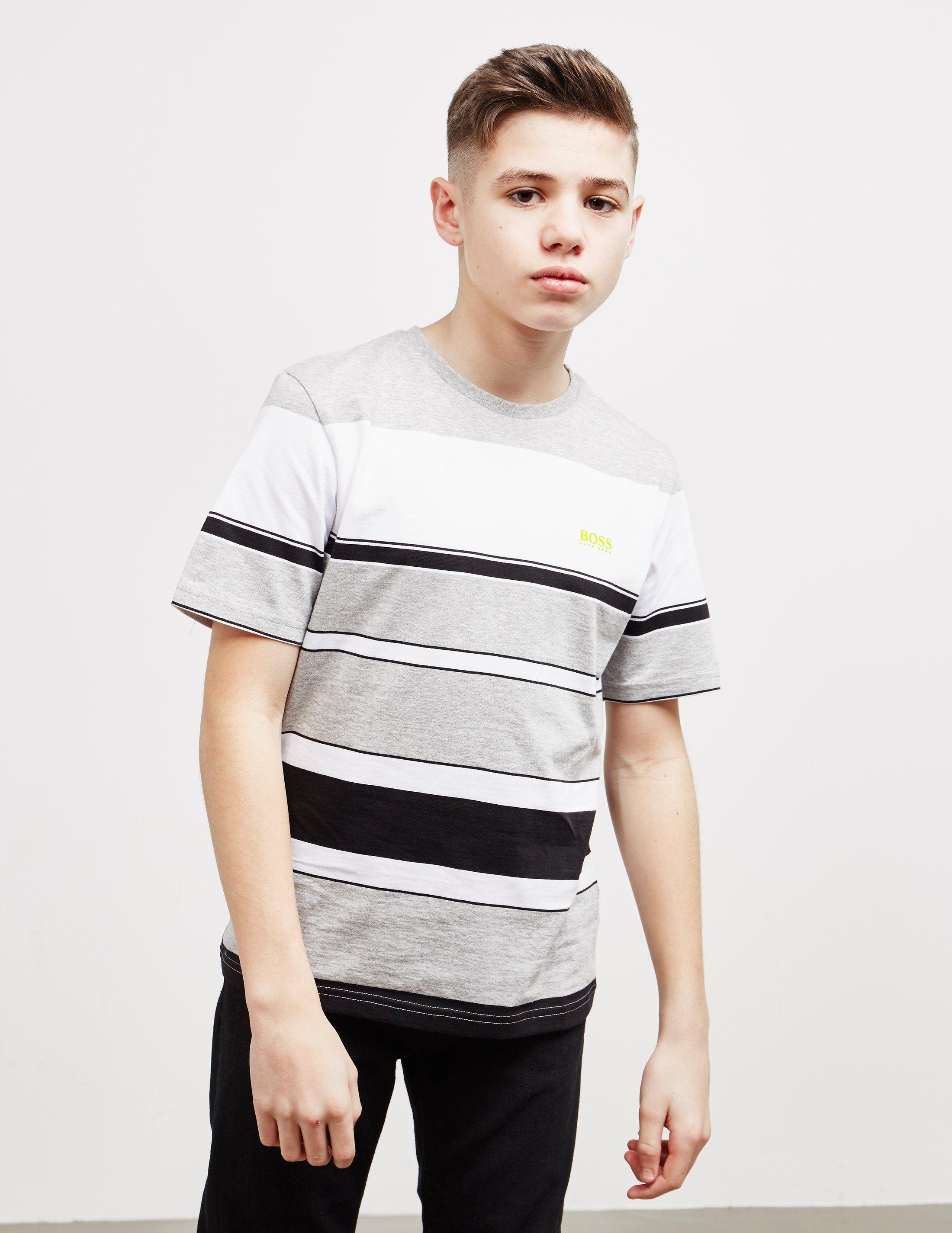 BOSS Multi Stripe Short Sleeve T-Shirt