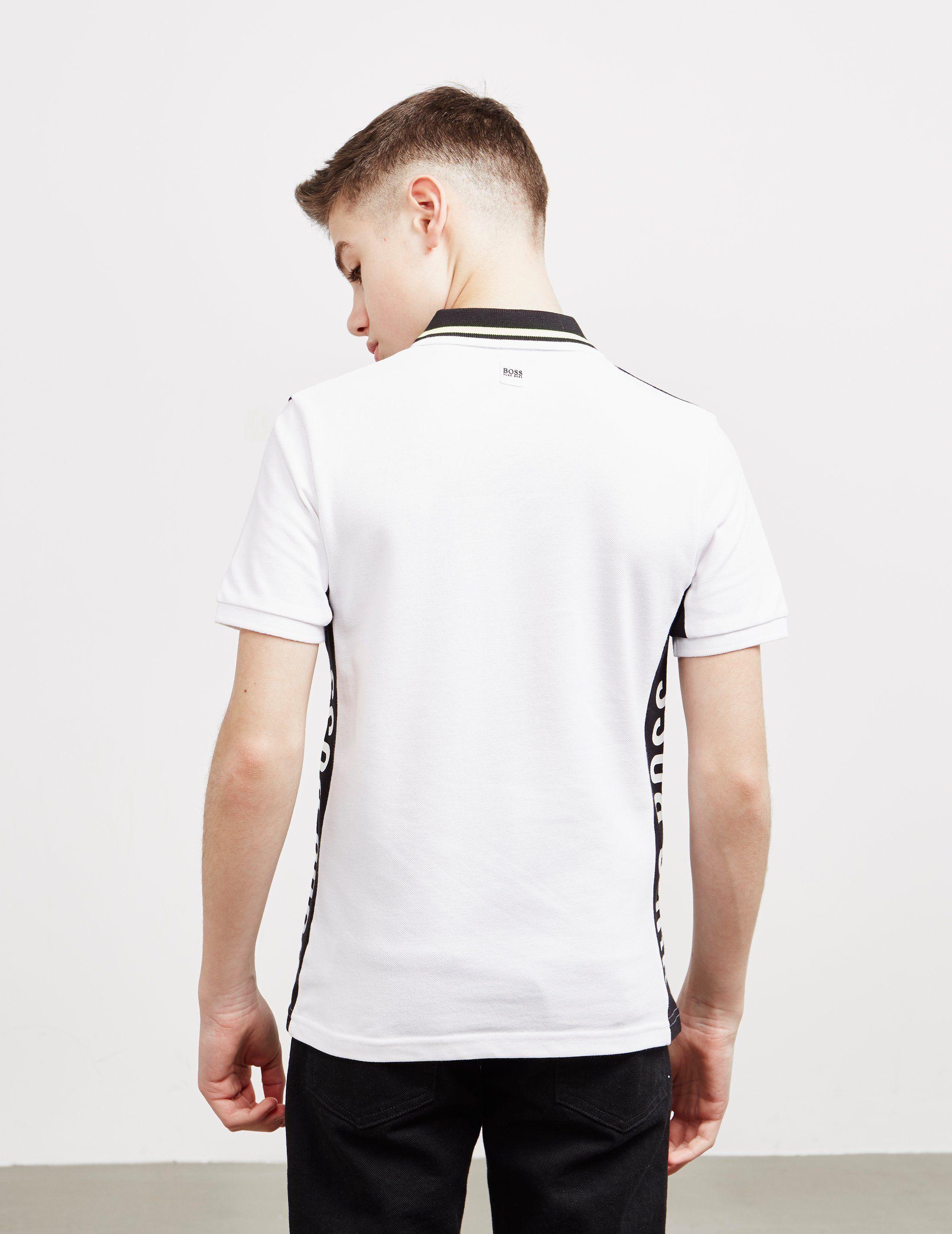 BOSS Tape Logo Short Sleeve Polo Shirt