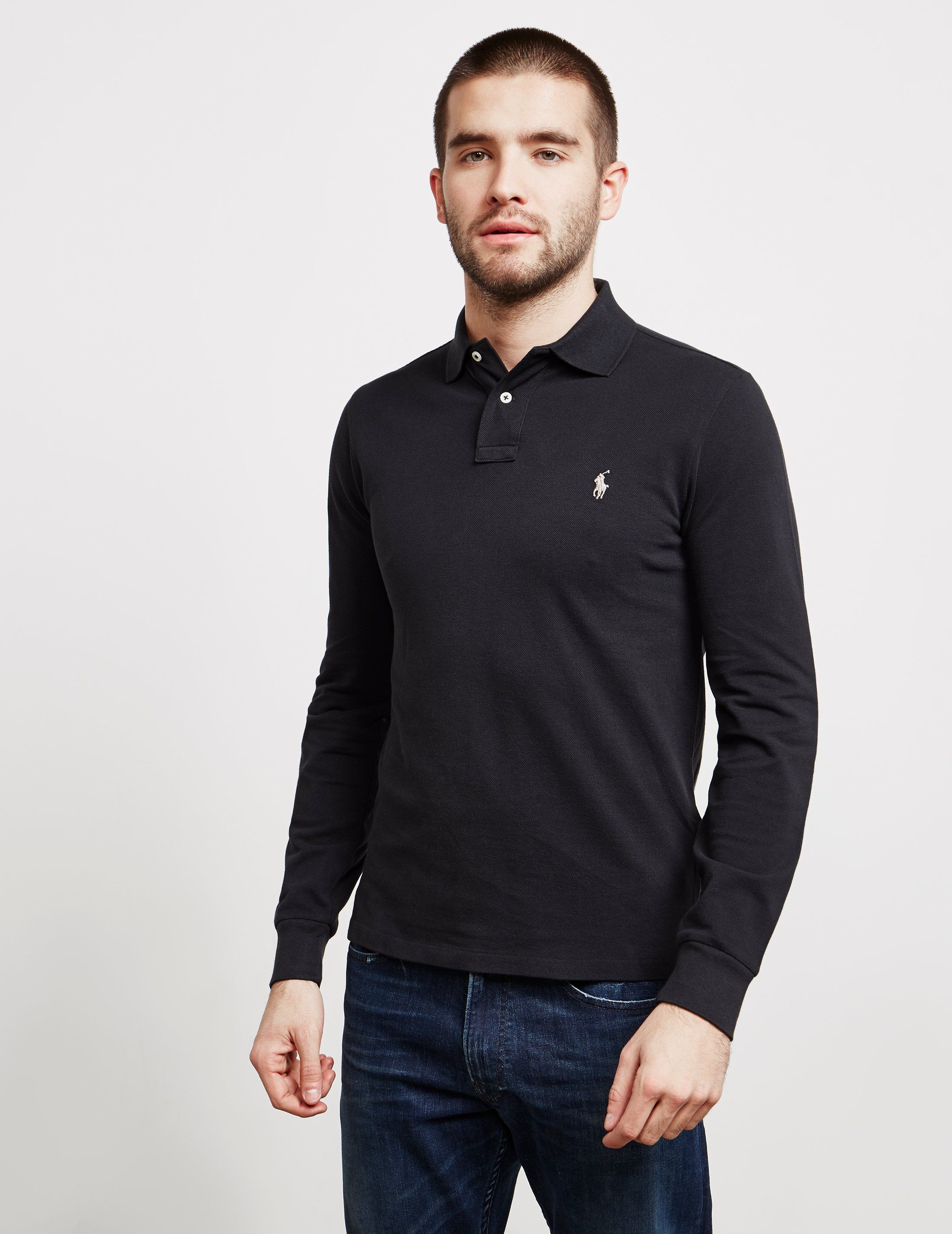 Polo Ralph Lauren Slim Fit Long Sleeve Polo Shirt - Online Exclusive