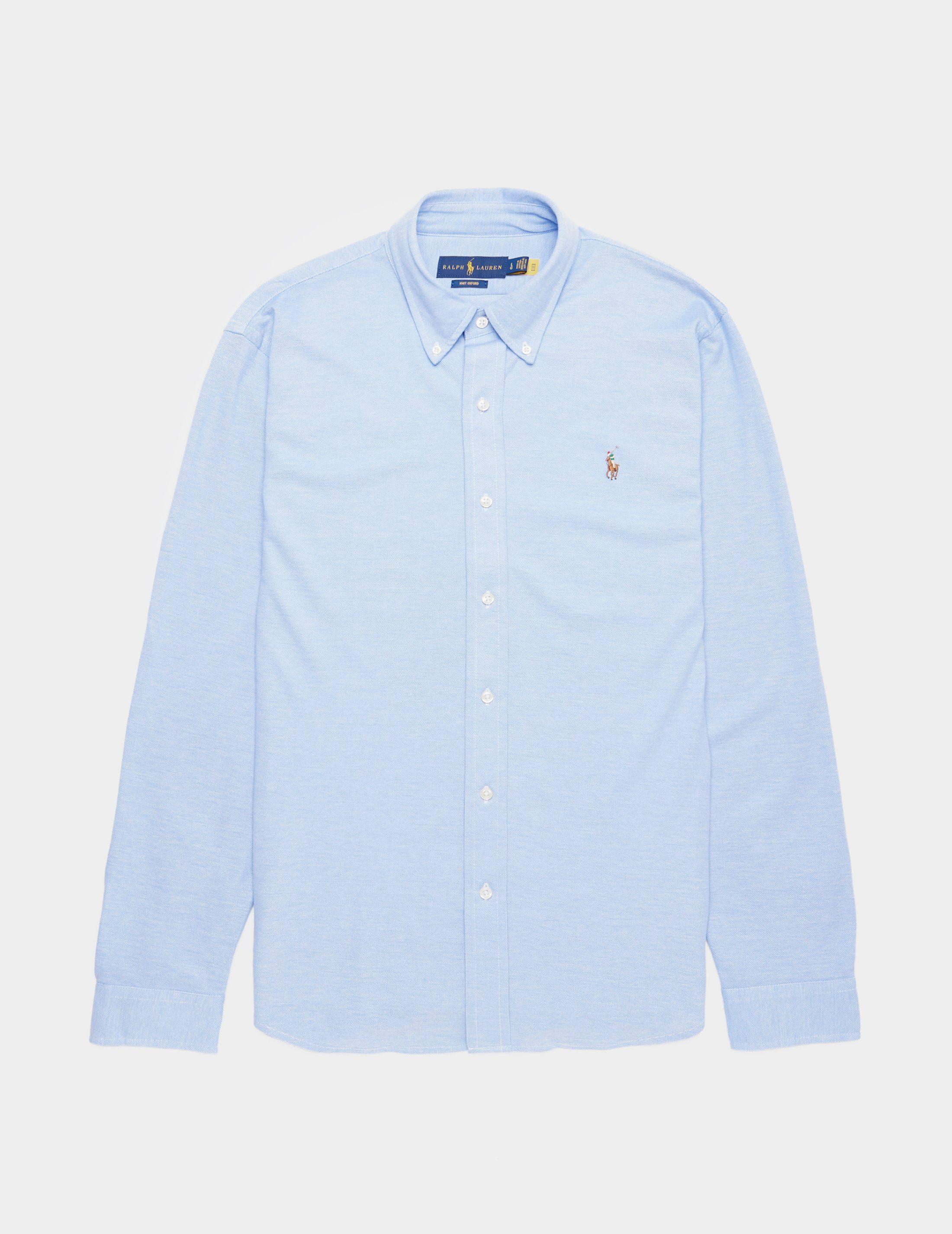 Polo Ralph Lauren Pique Long Sleeve Oxford Shirt - Online Exclusive
