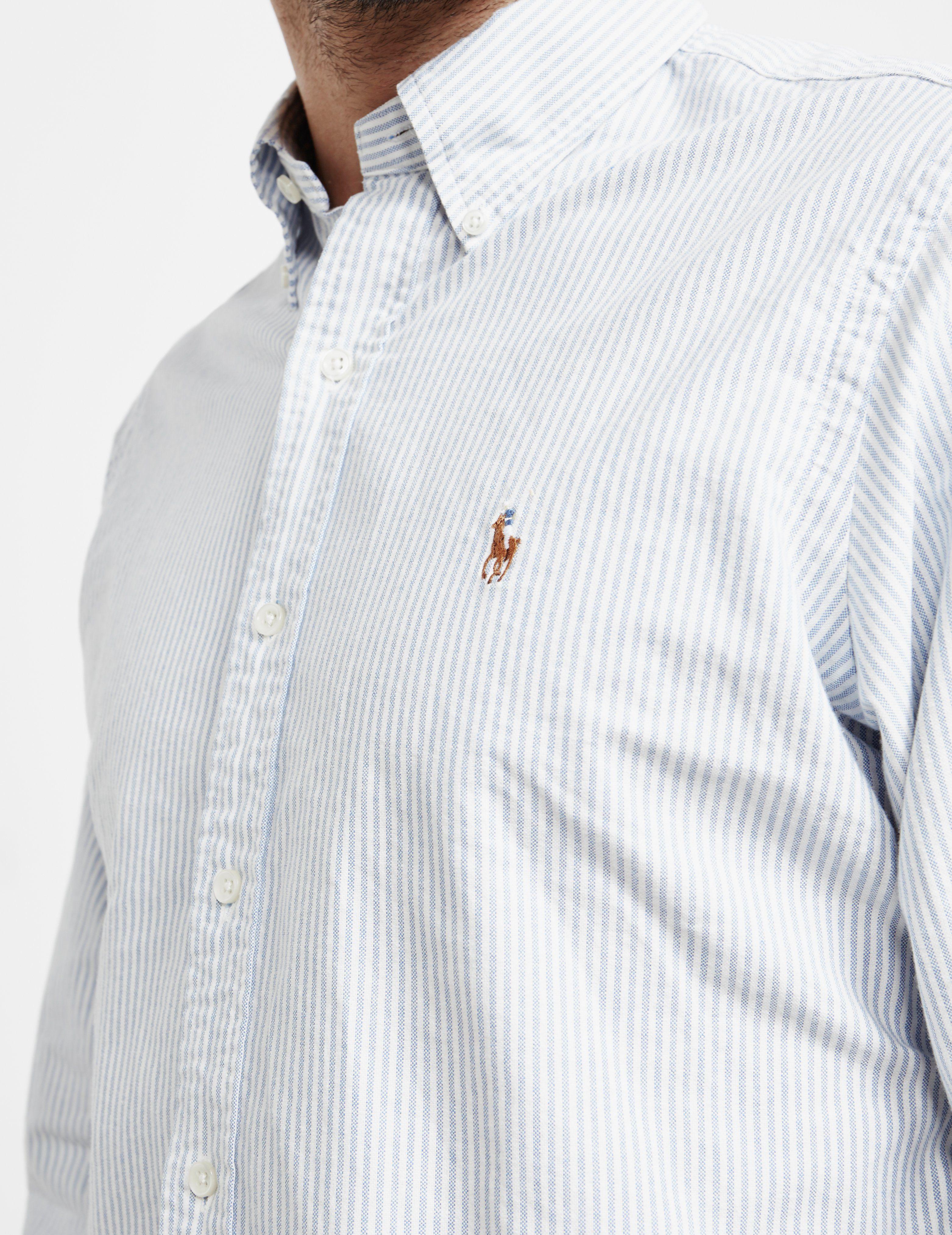 Polo Ralph Lauren Stripe Long Sleeve Oxford Shirt - Online Exclusive
