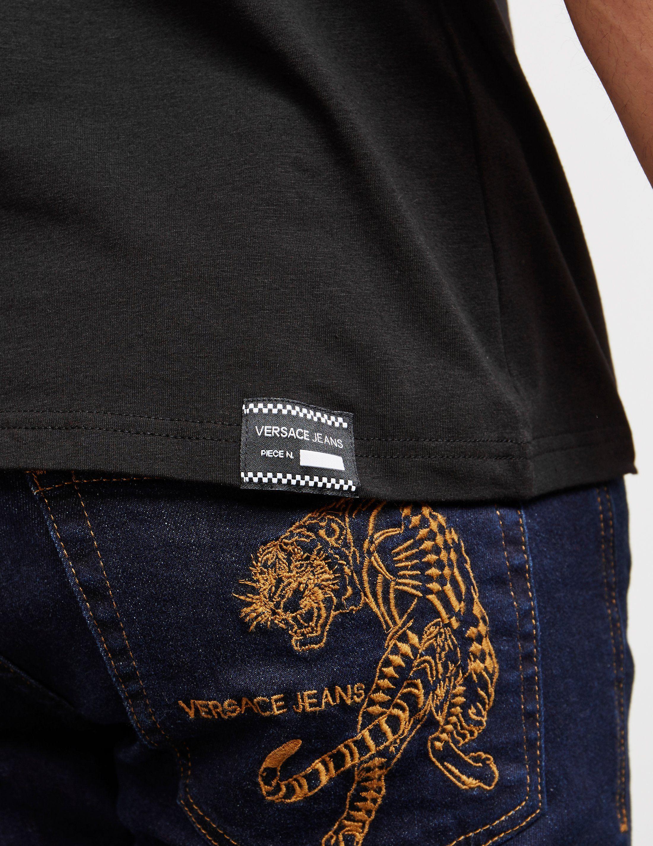 Versace Jeans Circle Logo Short Sleeve T-Shirt