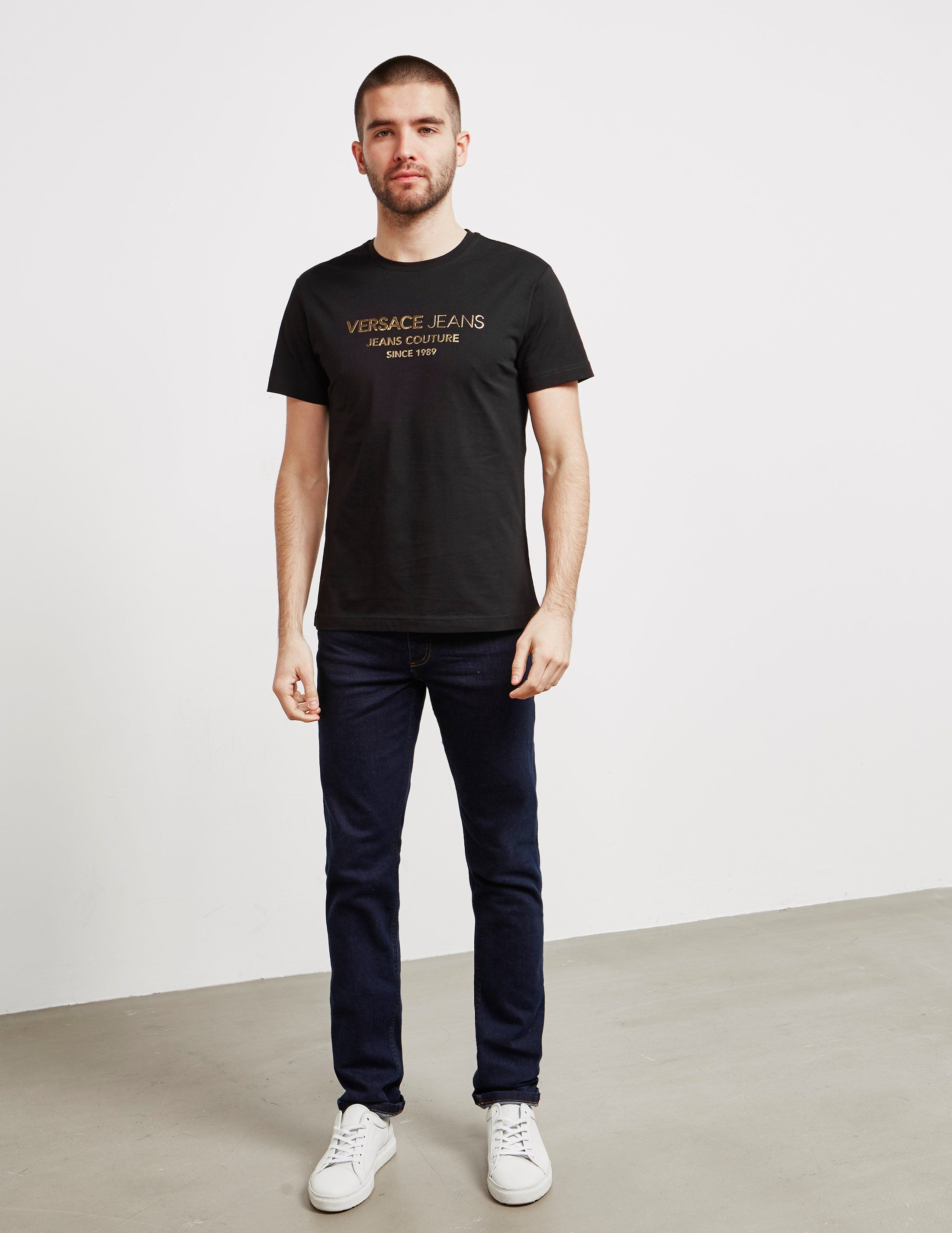 Versace Jeans Foil Corp Short Sleeve T-Shirt- Online Exclusive