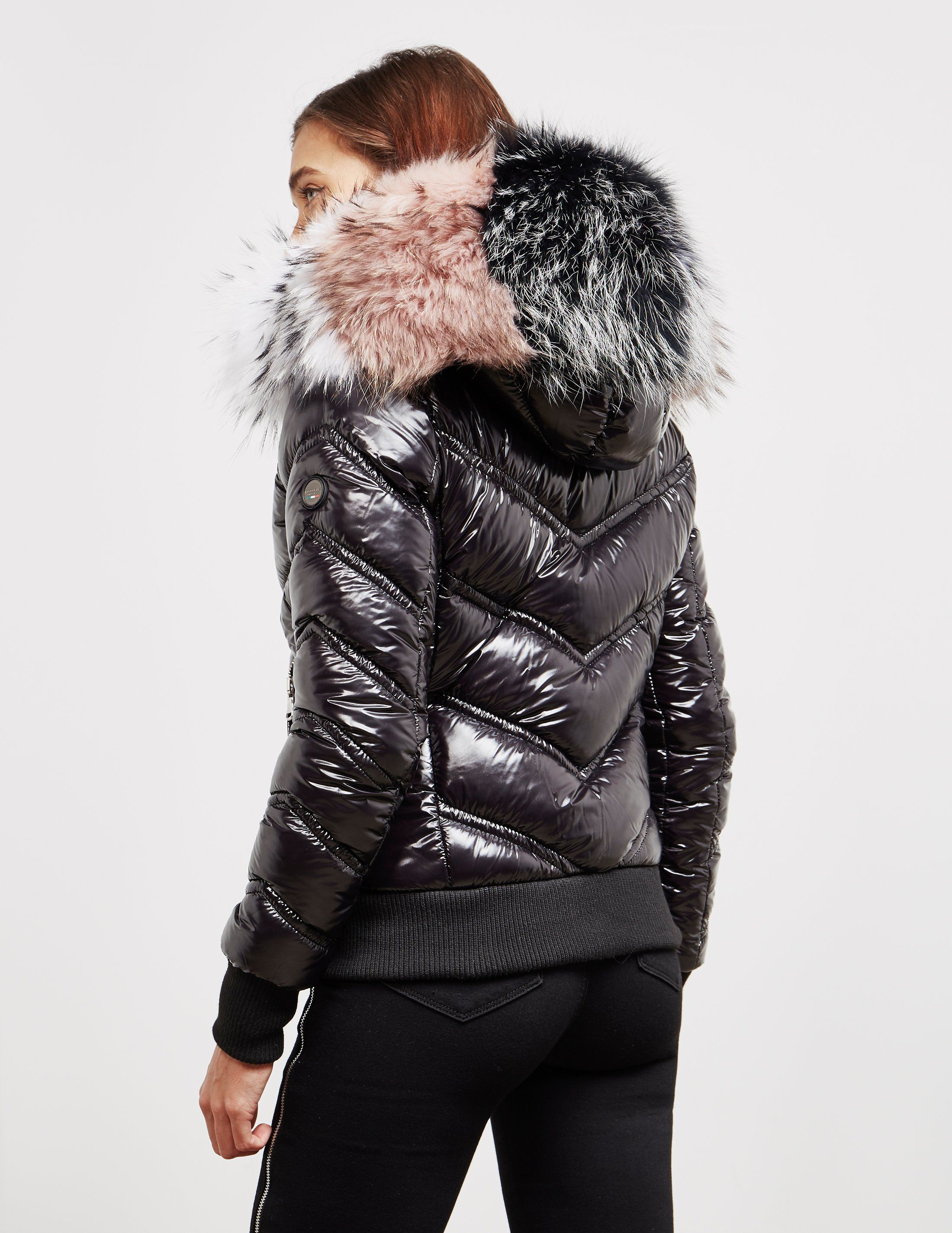 Froccella Multi Fur Bomber Jacket