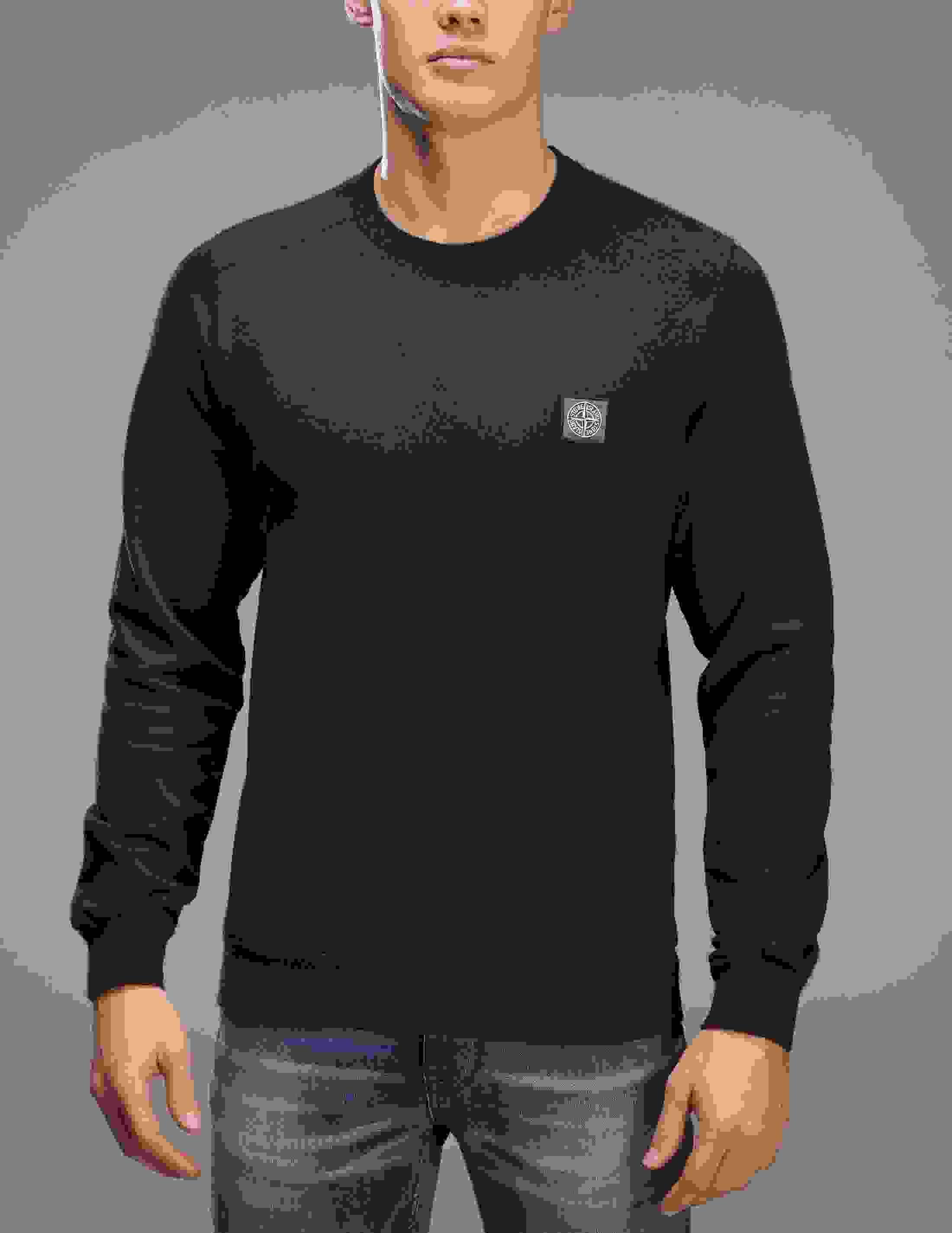 Stone Island Patch Logo Sweatshirt - Tessuti