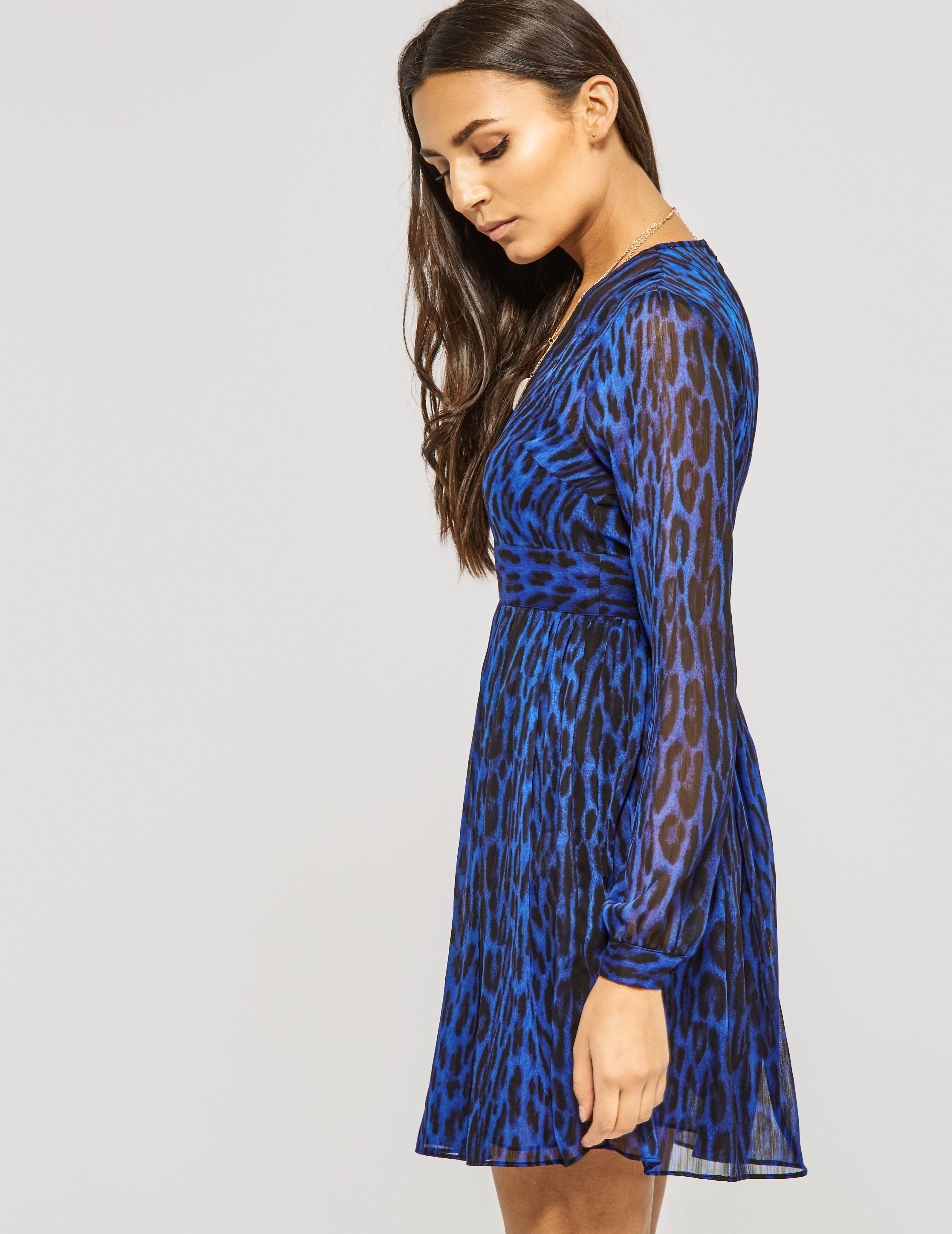 Michael Kors High Woods V-Neck Dress