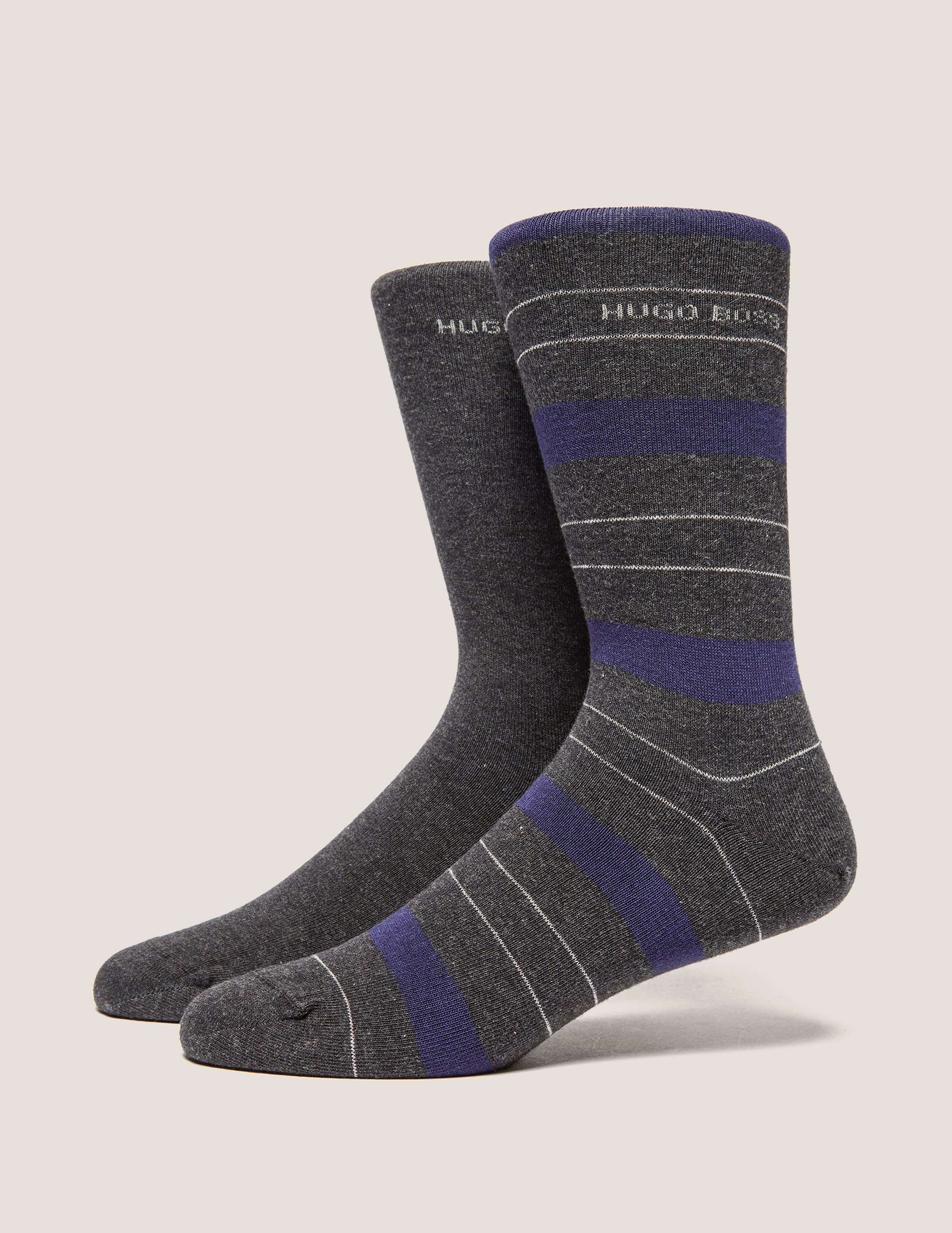 BOSS 2 Pack Stripe Sock