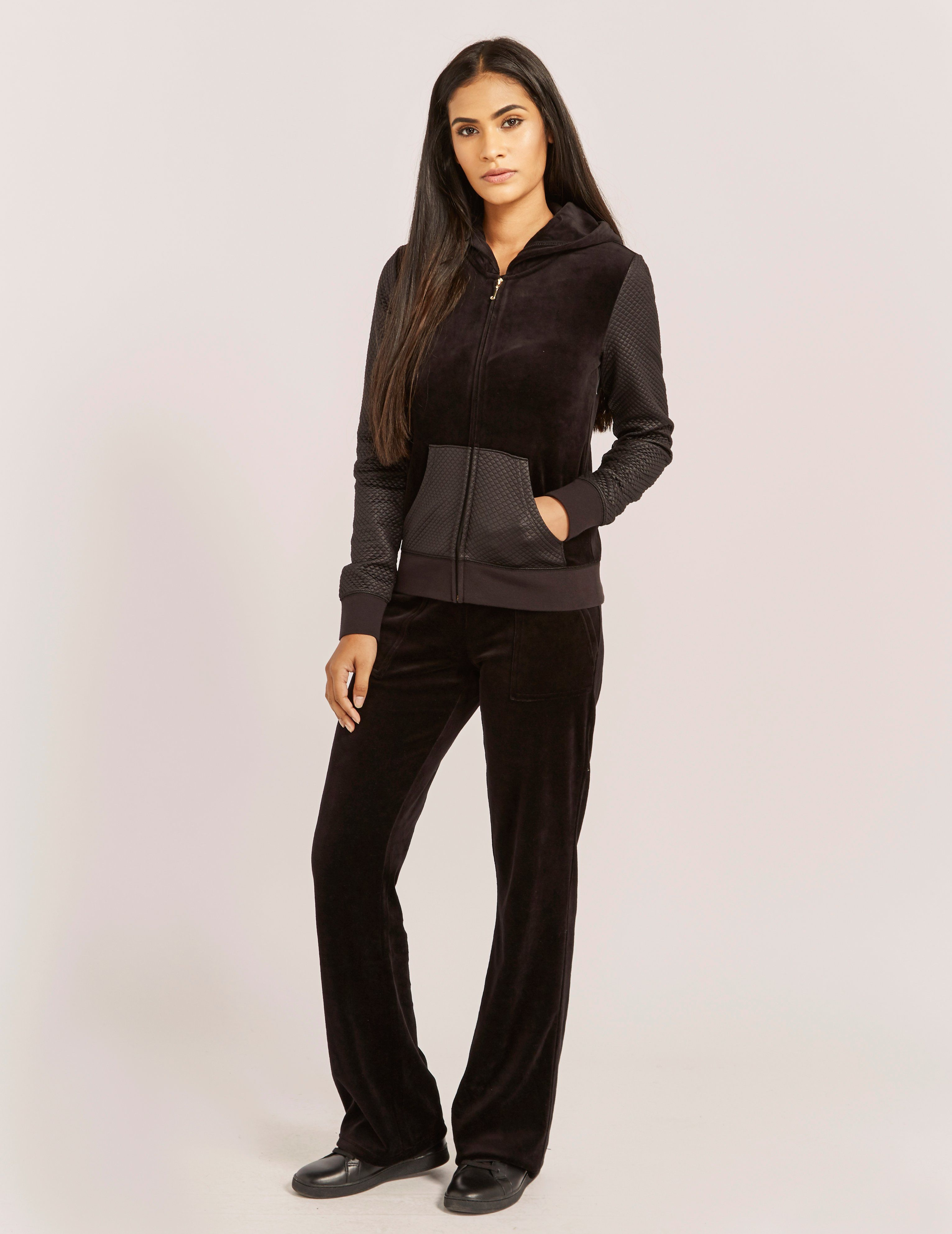 Juicy Couture Bling Velour Track Bottoms