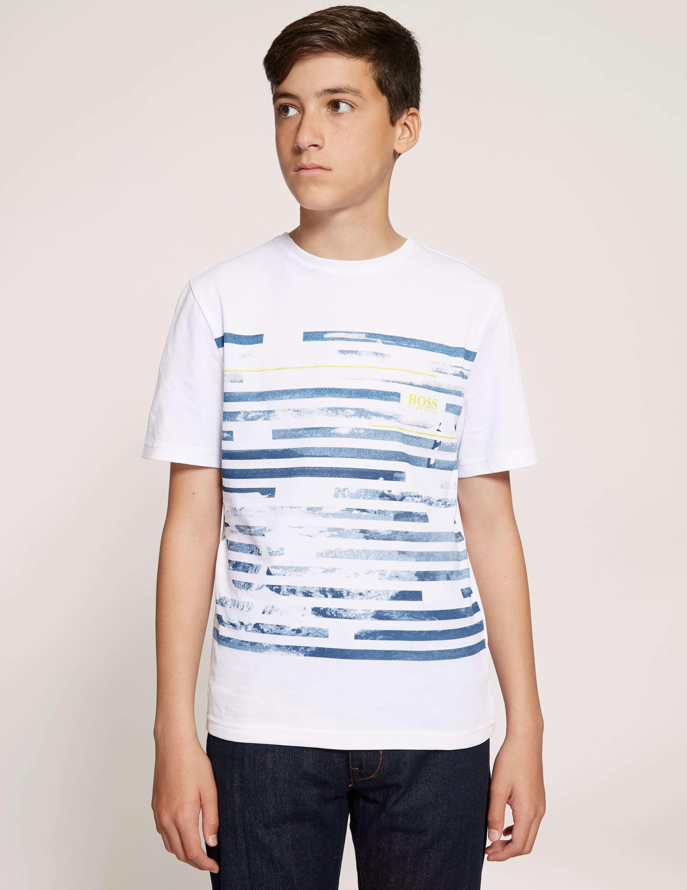 BOSS Stripe Print Short Sleeve T-Shirt