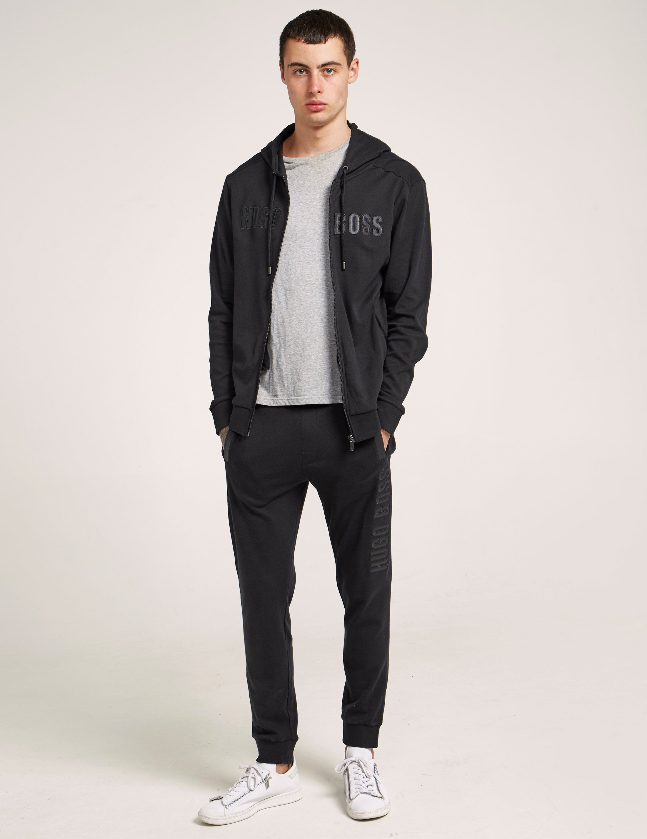 BOSS Leather Effect Track Pants