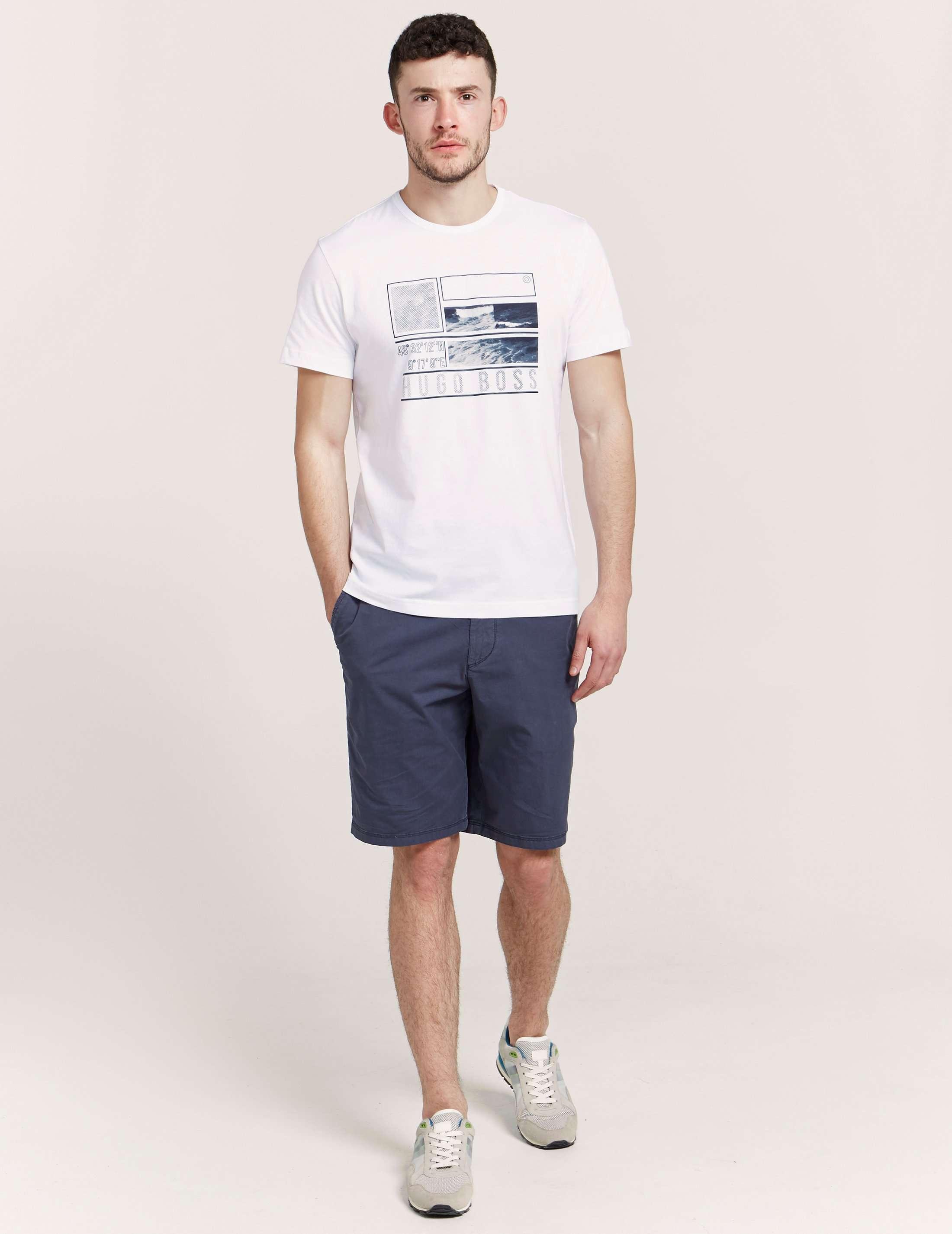 BOSS Green Square Print T-Shirt