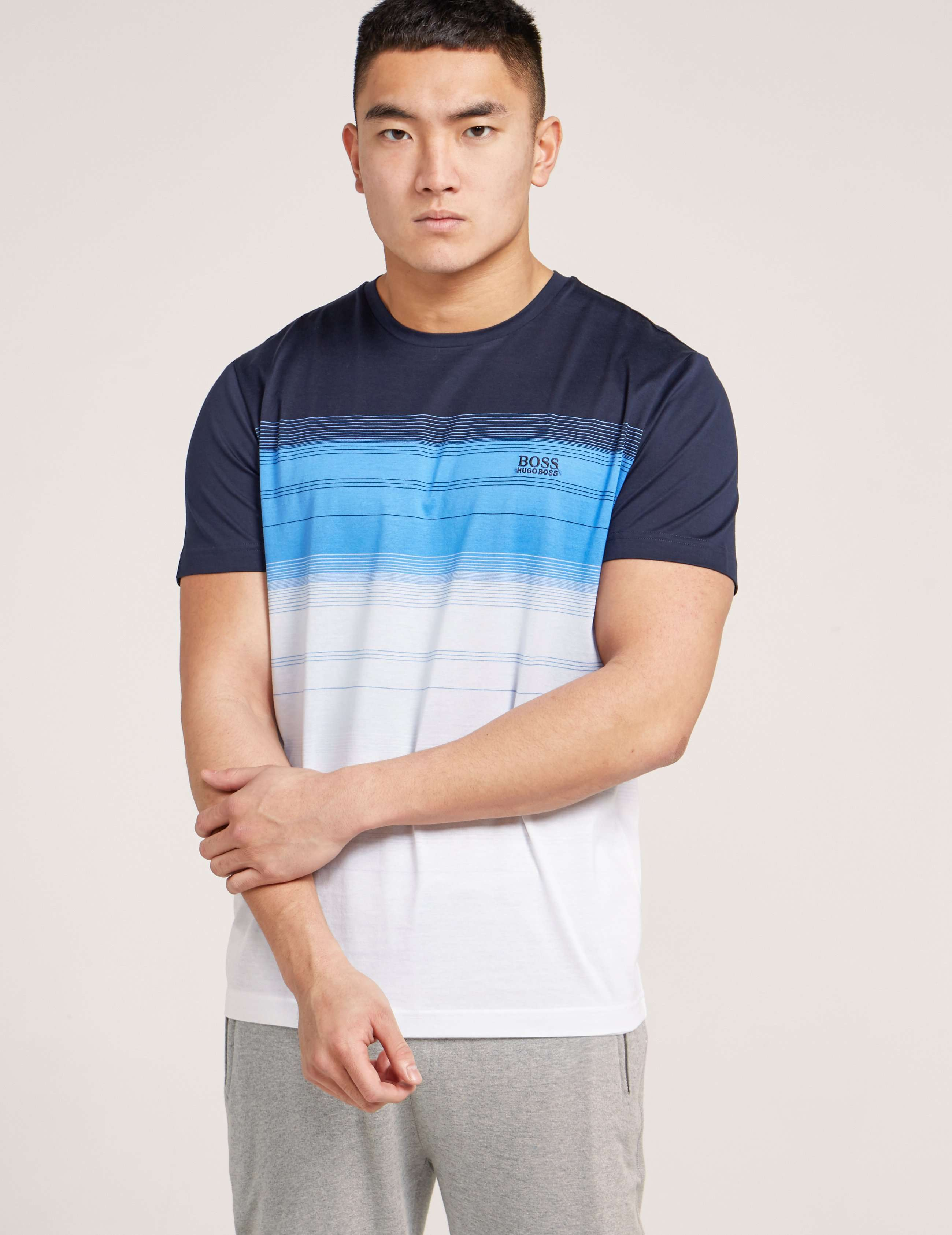 BOSS Graduation Stripe Short Sleeve T-Shirt