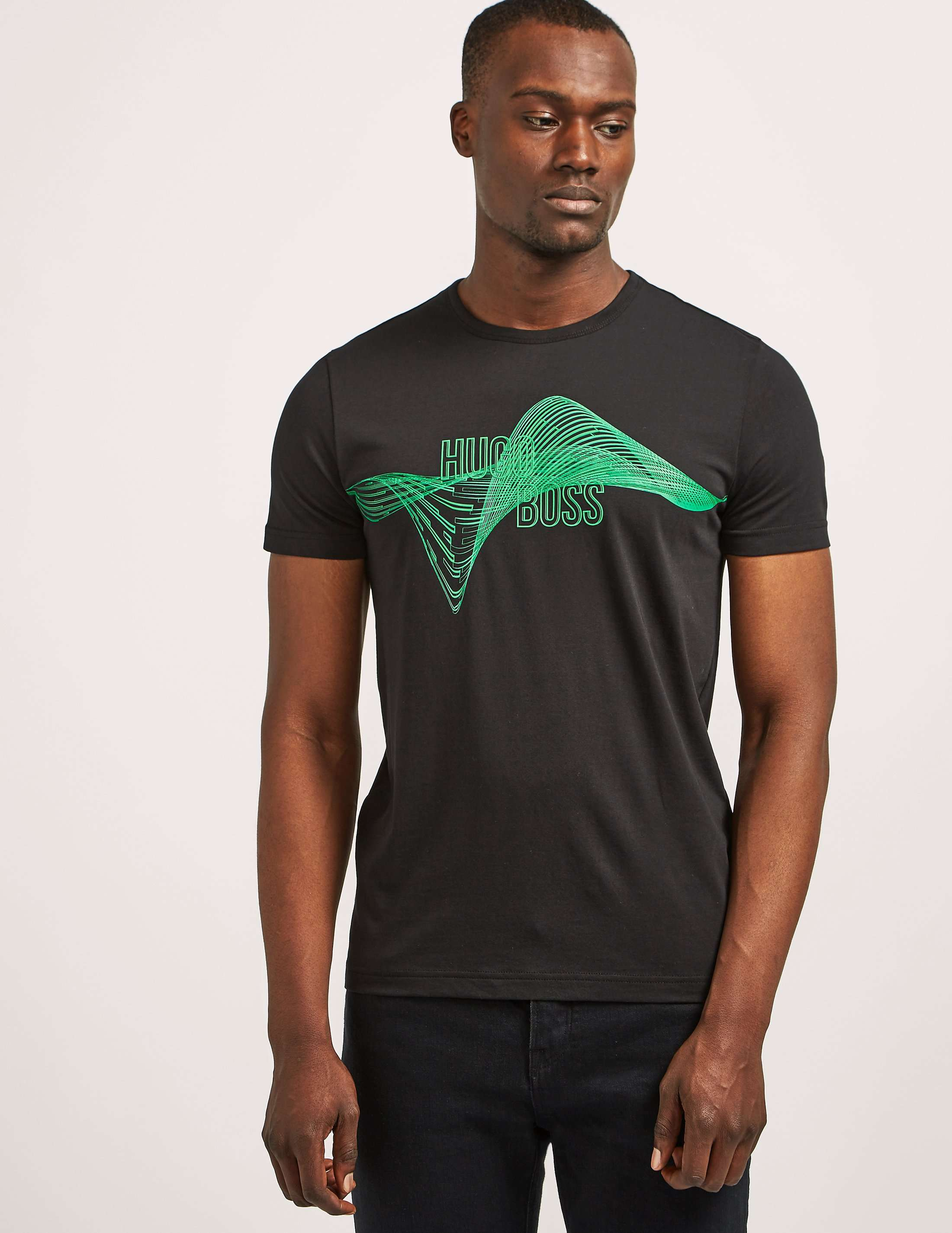 BOSS Green Helix Print Short Sleeve T-Shirt