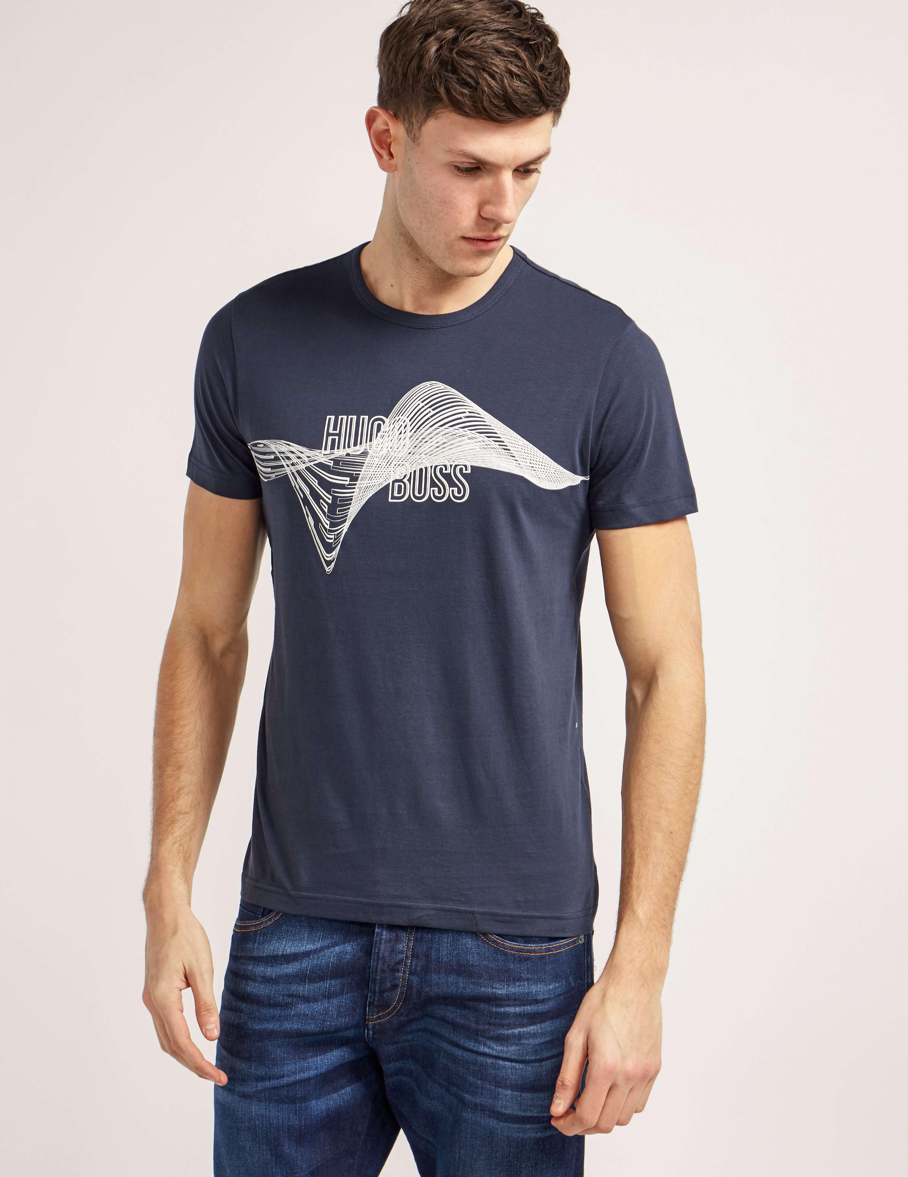 BOSS Green Helix Print Short Sleeve T-Shirt