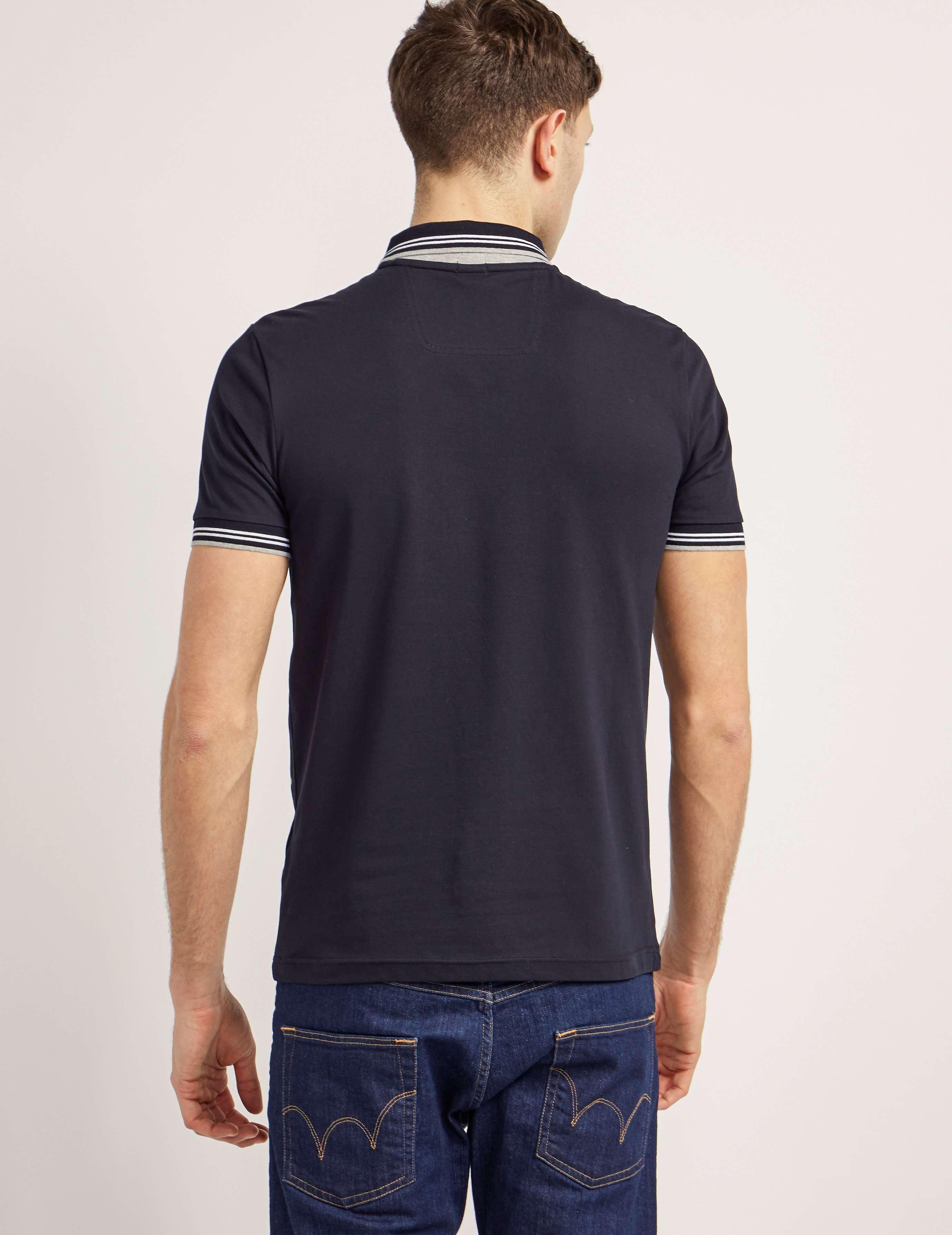 BOSS Green Tipped Short Sleeve Polo Shirt