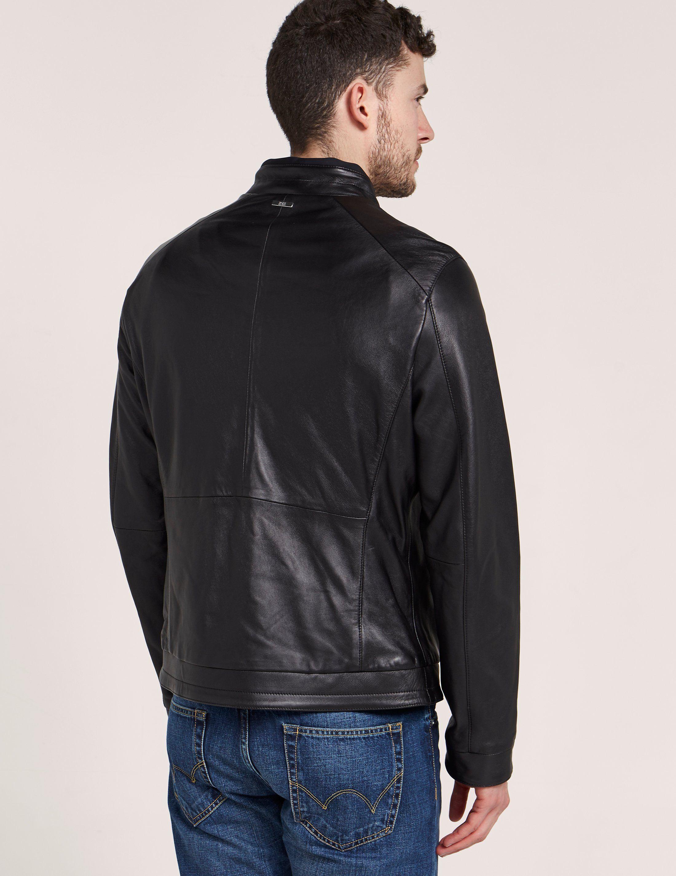 BOSS Nartimo Leather Jacket