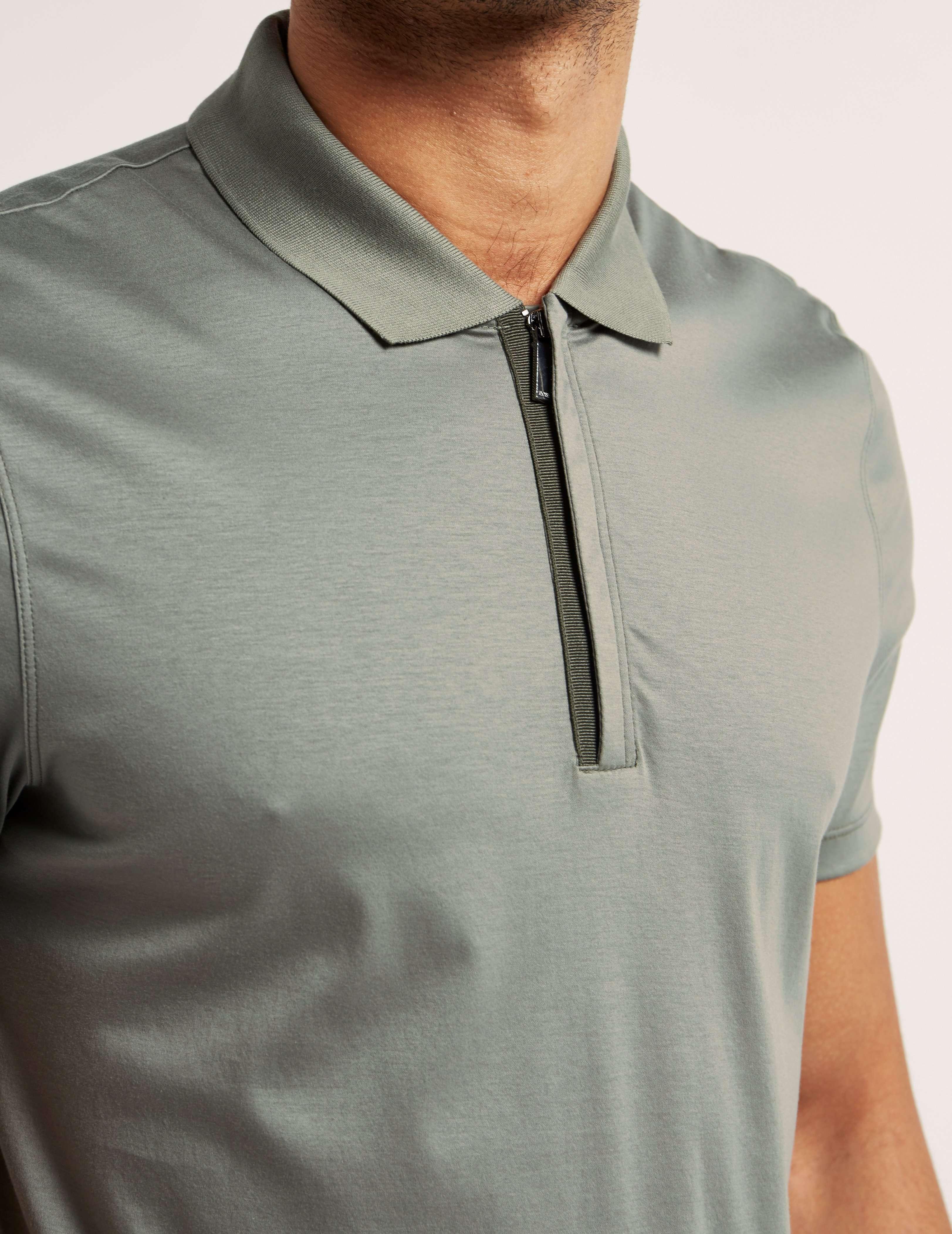 BOSS Short Sleeve Zip Polo Shirt