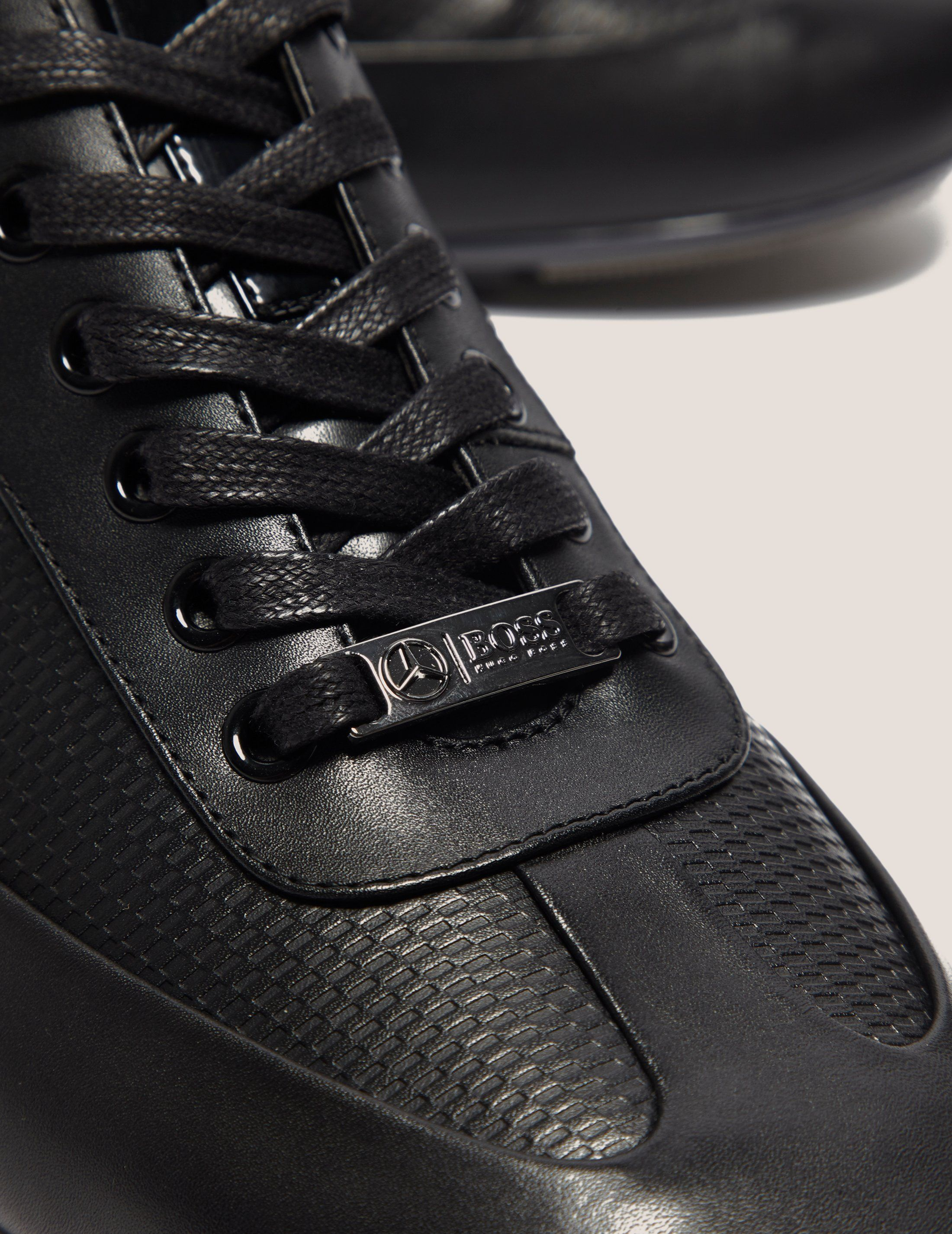 BOSS Green Leather Trainers