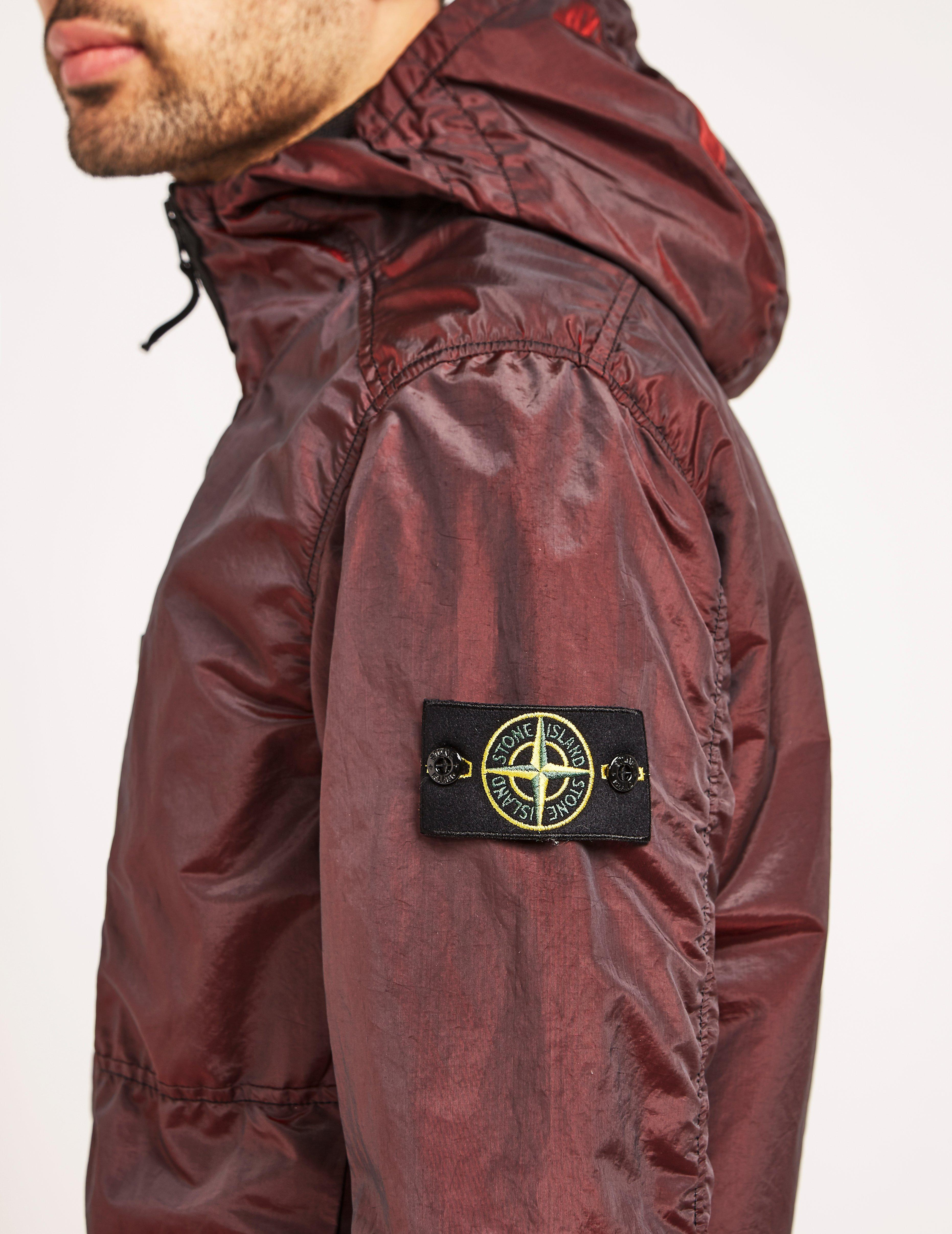 Red stone island parka