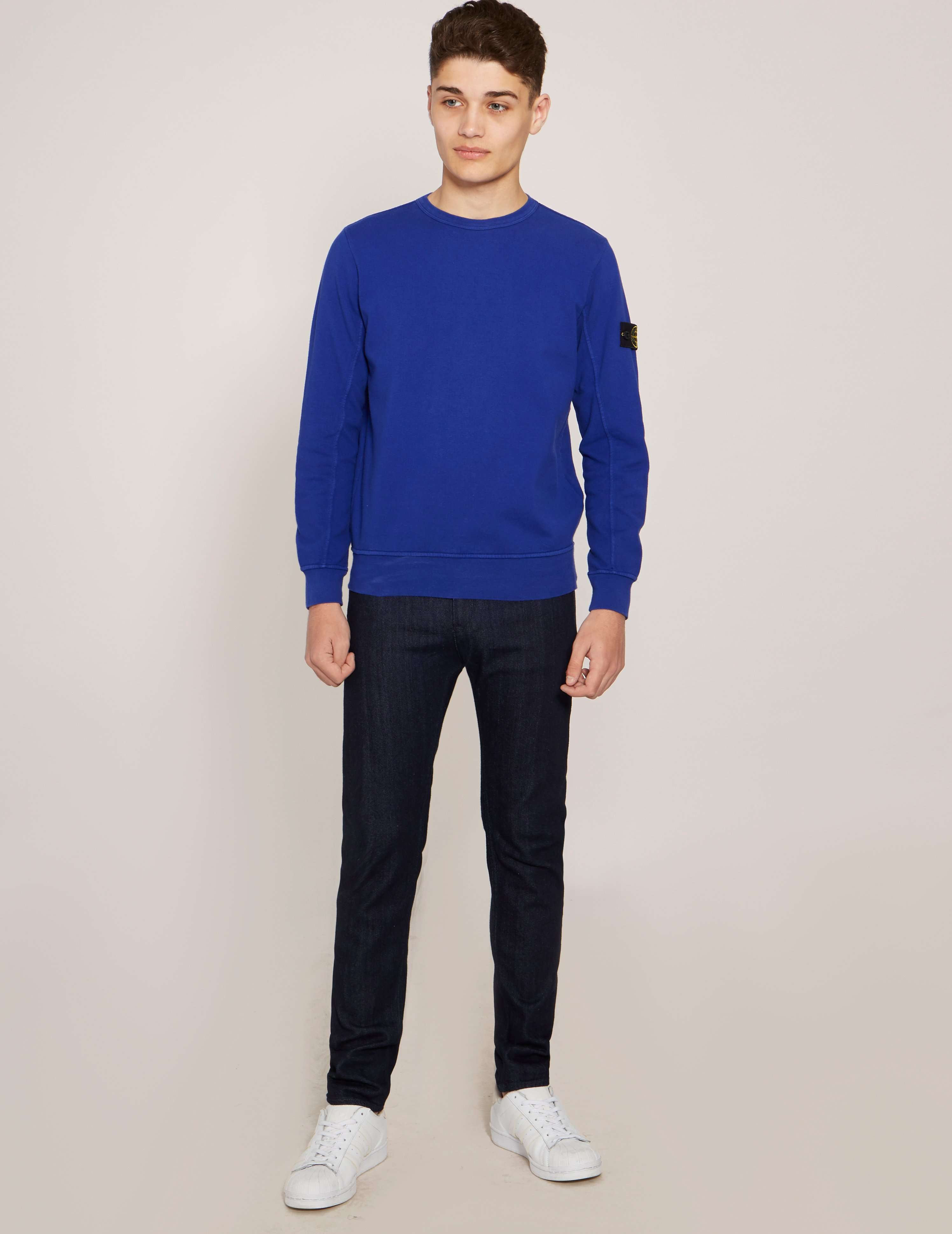 Stone Island Badge Crew Neck Sweatshirt