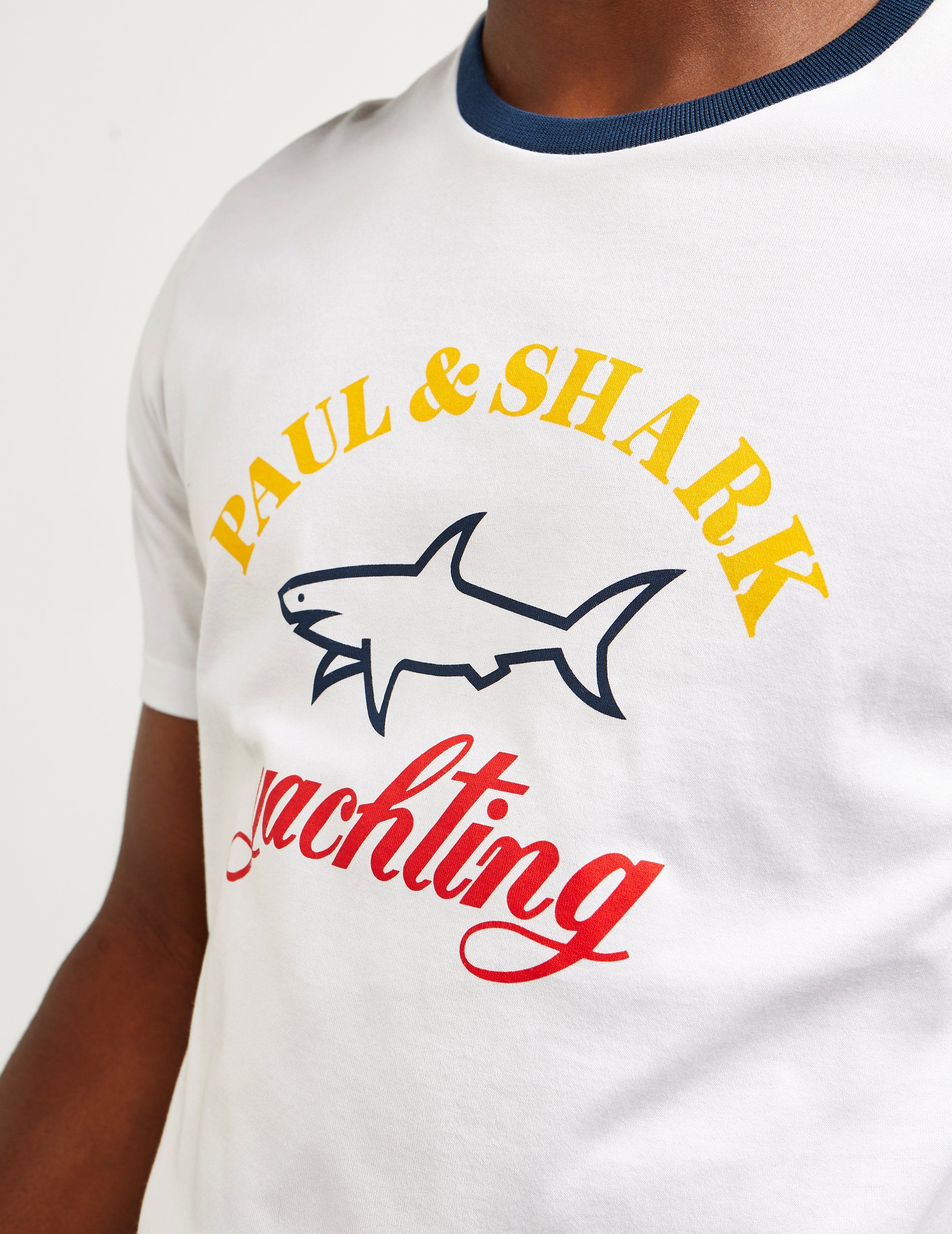 Paul and Shark Short Sleeve Ringer T-Shirt