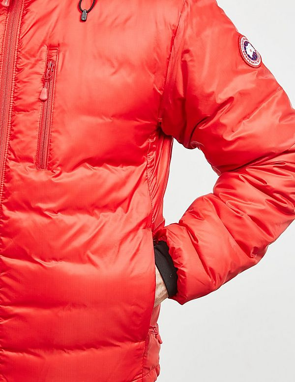 canada goose lodge jacket red