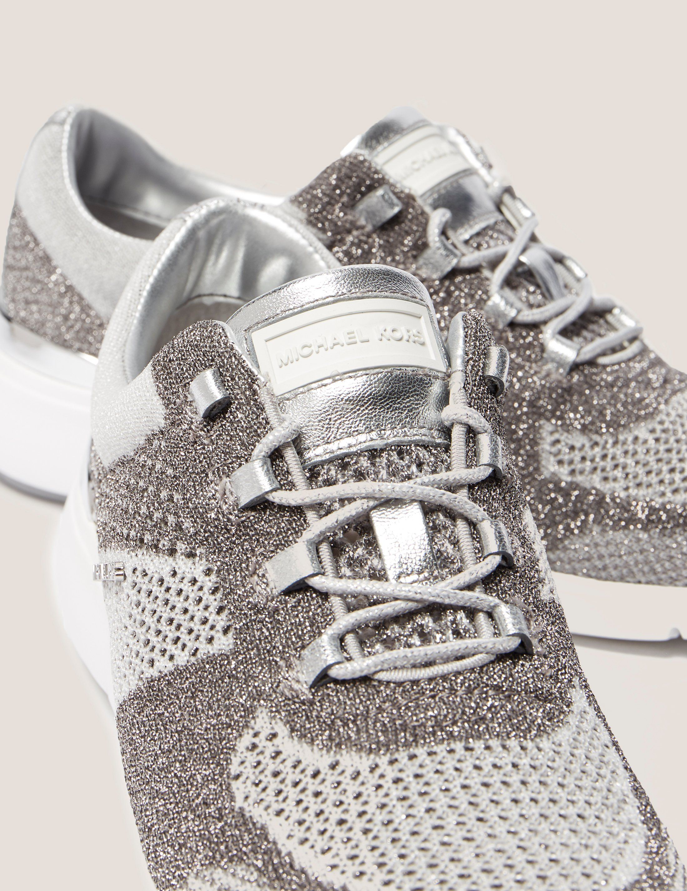 Michael Kors Skyler Metallic Knit Trainer