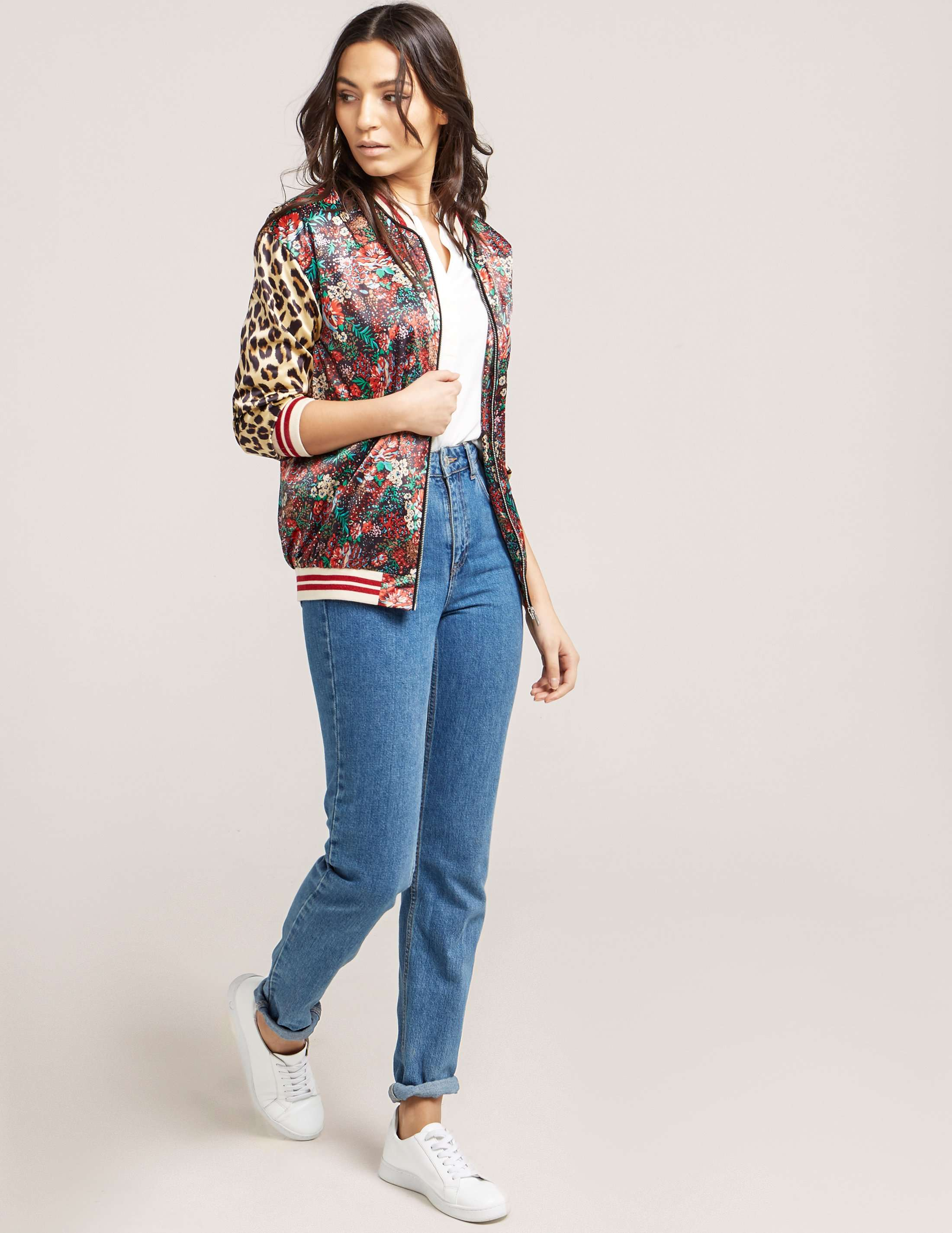 Maison Scotch Printed Bomber Jacket