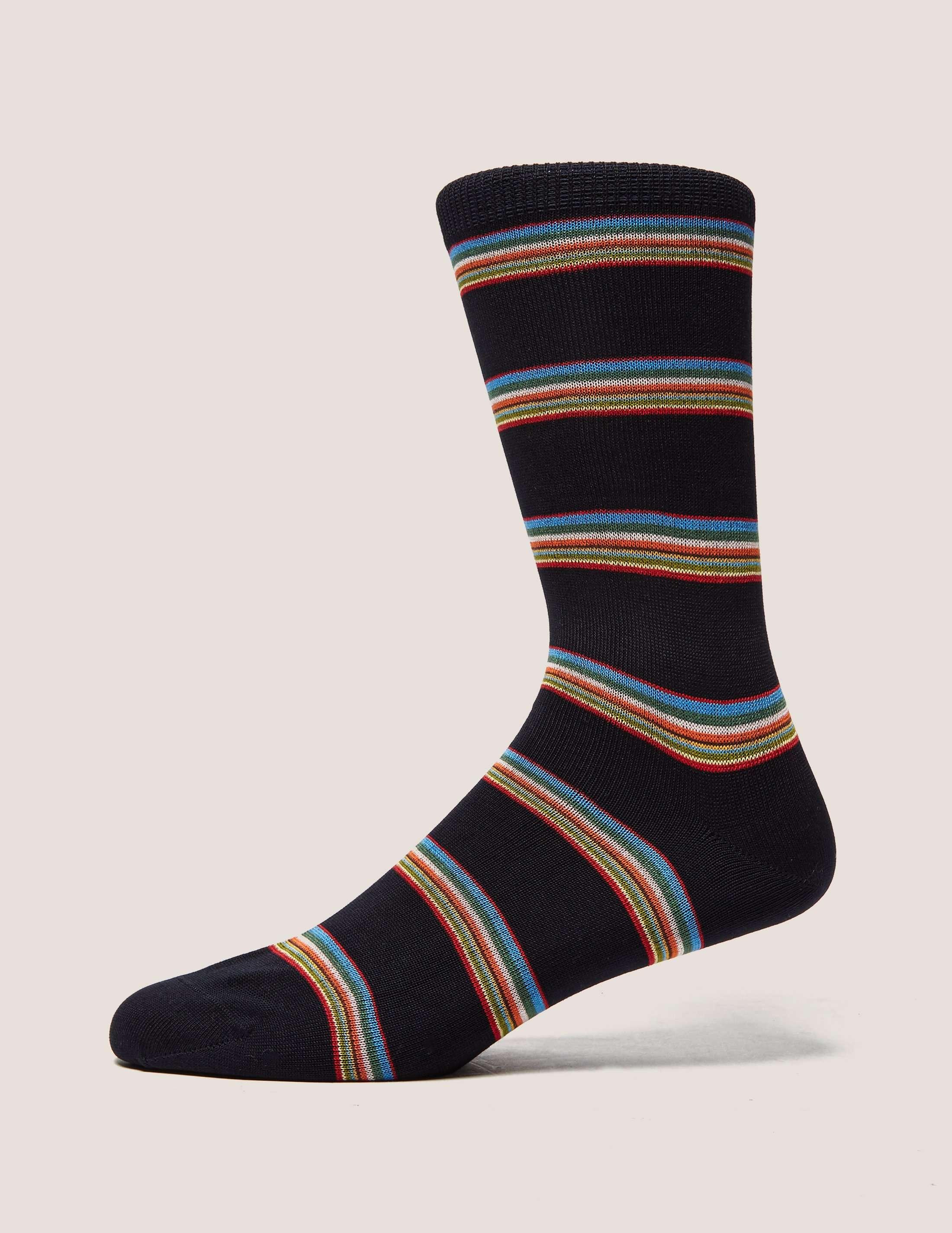 Paul Smith Multi Stripe Block Socks