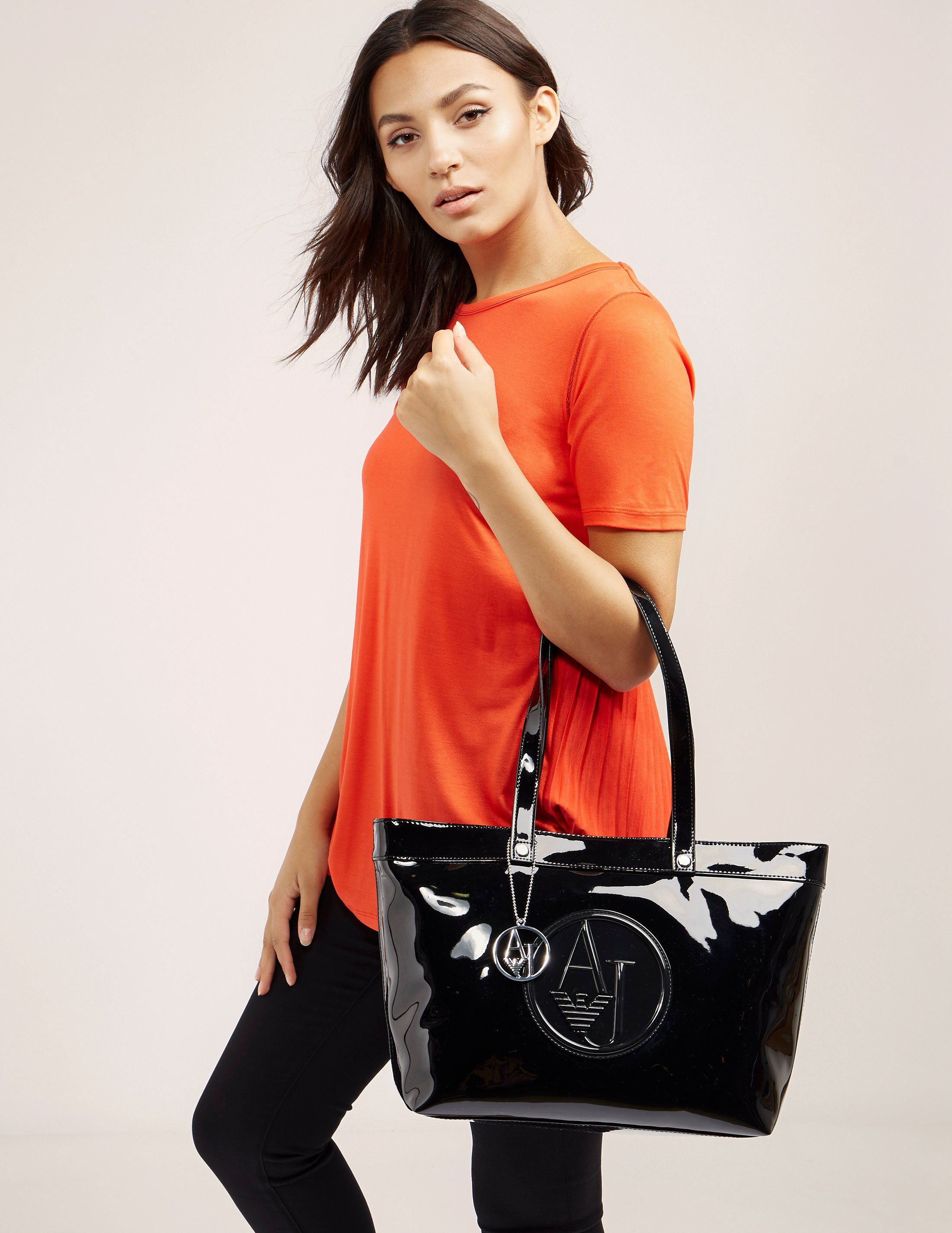 Armani Jeans Small Patent Bag