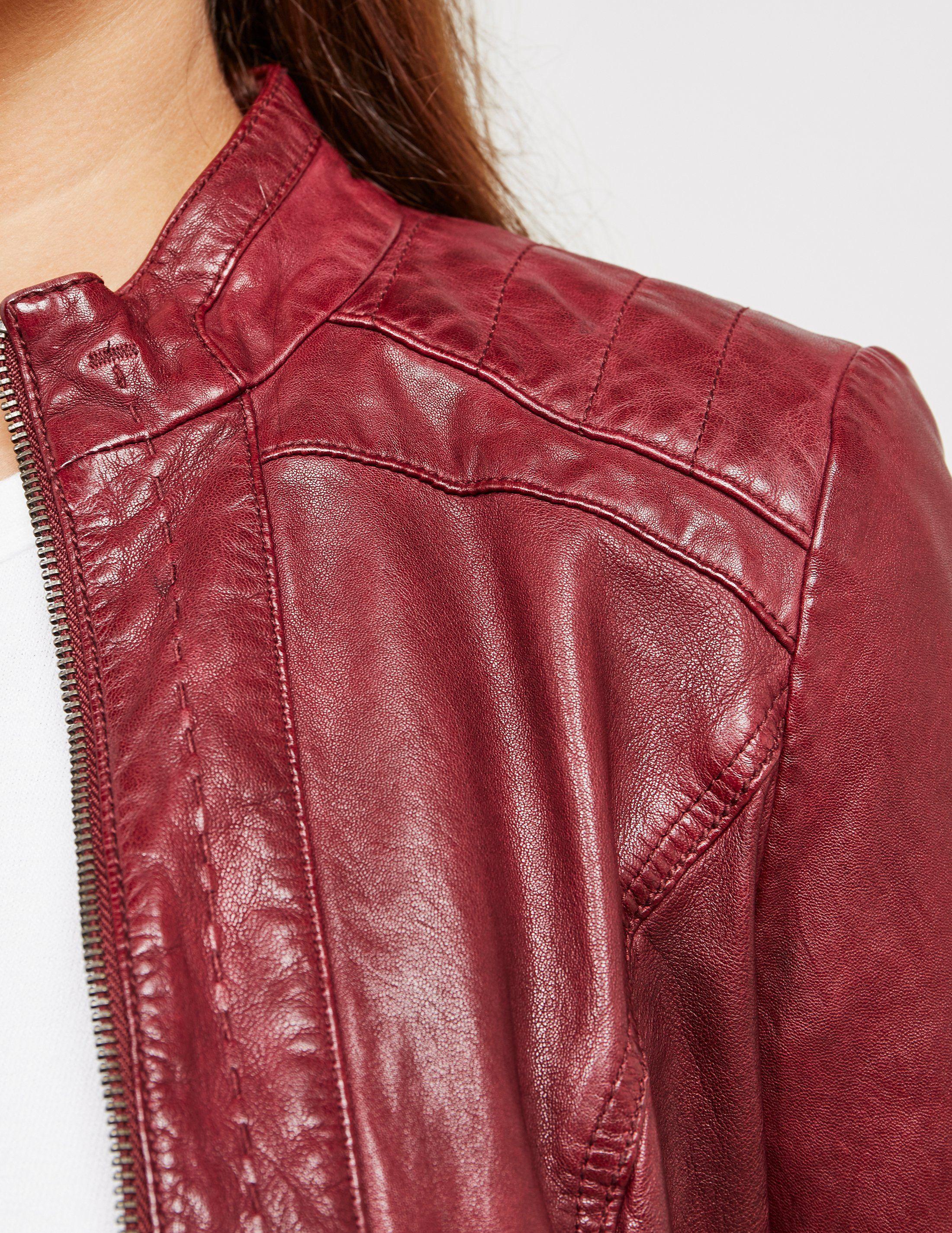 BOSS Orange Janabelle Leather Jacket