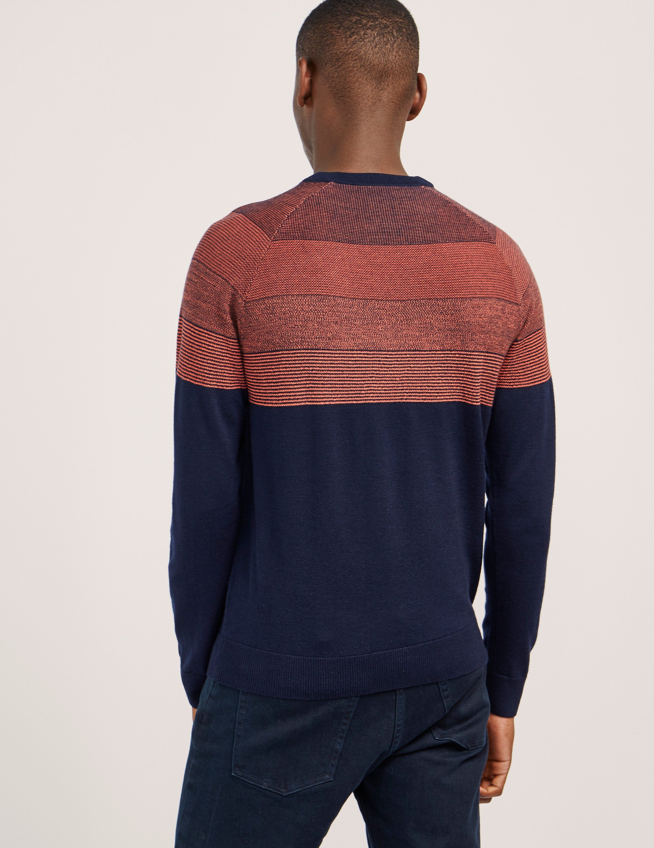 Paul Smith Contrast Long Sleeve Knitted Jumper