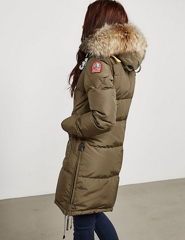 parajumpers long bear leather coat