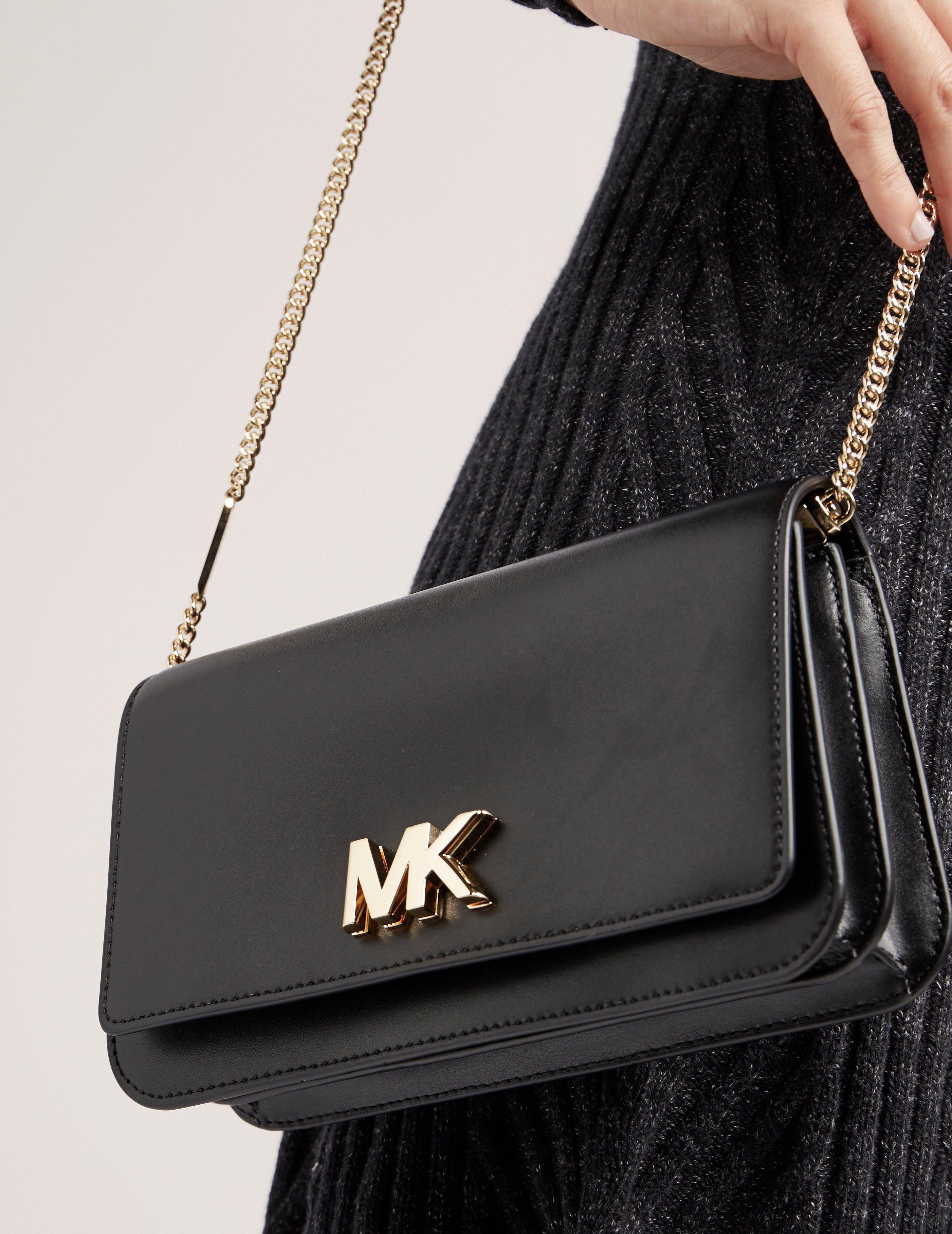 Michael Kors Black Mott clutch bag