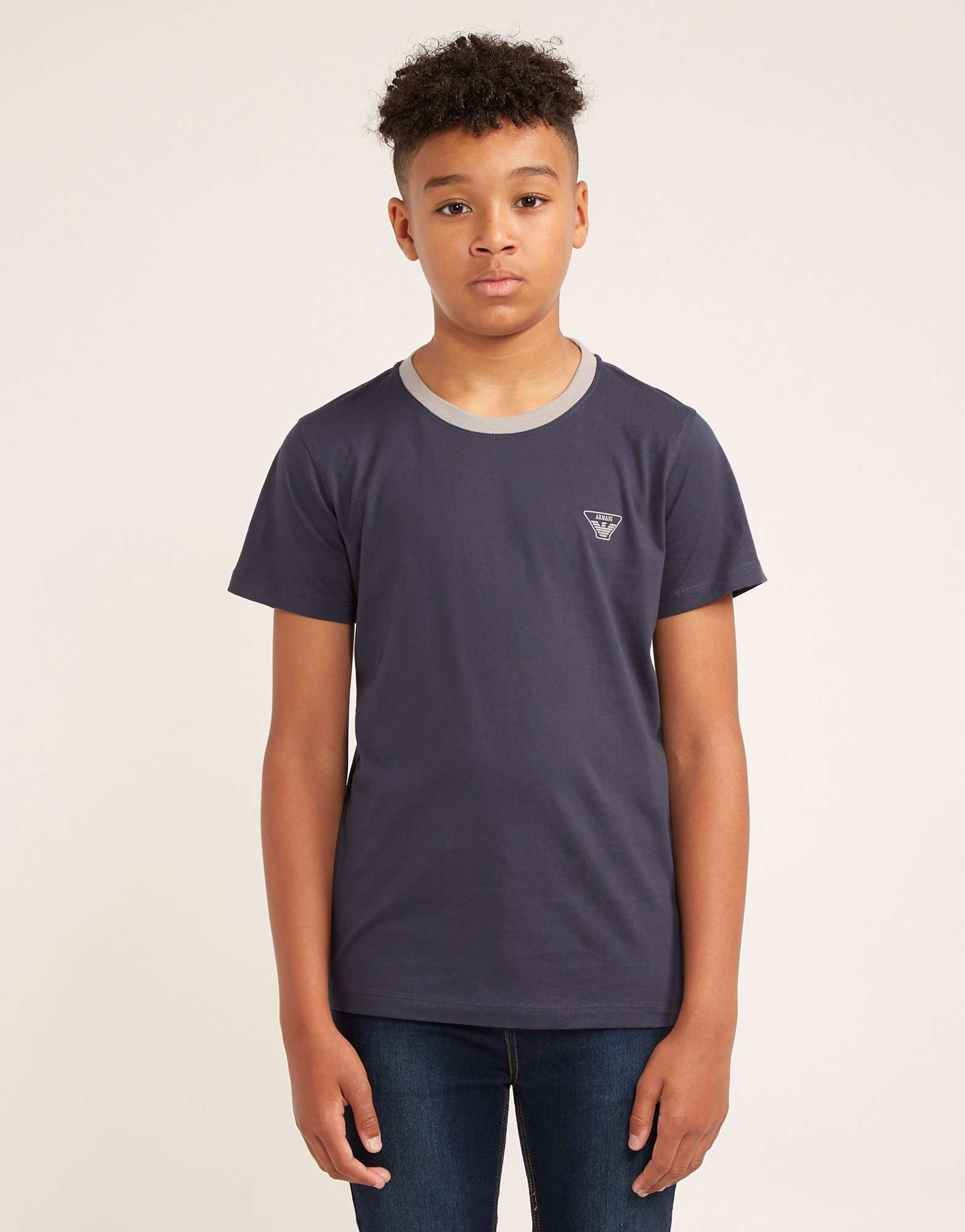 Armani Jeans Small Logo Short Sleeve T-Shirt