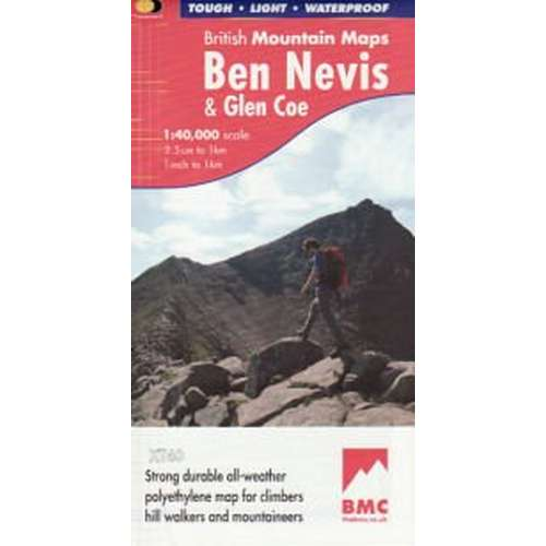 Ben Nevis and Glen Coe British Mountain Map