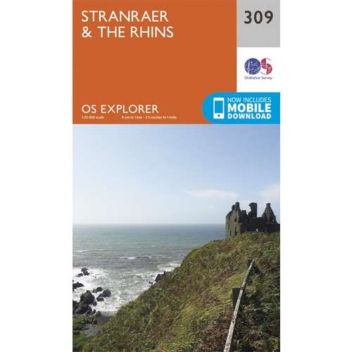 Explorer 309 1:25000 Stranraer & The Rhins, Dumfries & Galloway