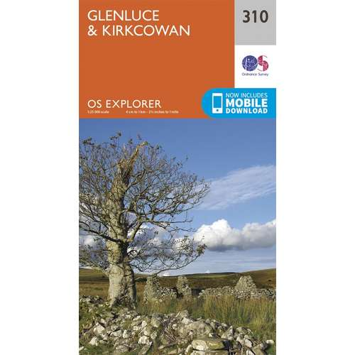 Explorer 310 1:25000 Glenluce & Kirkcowan, Dumfries & Galloway