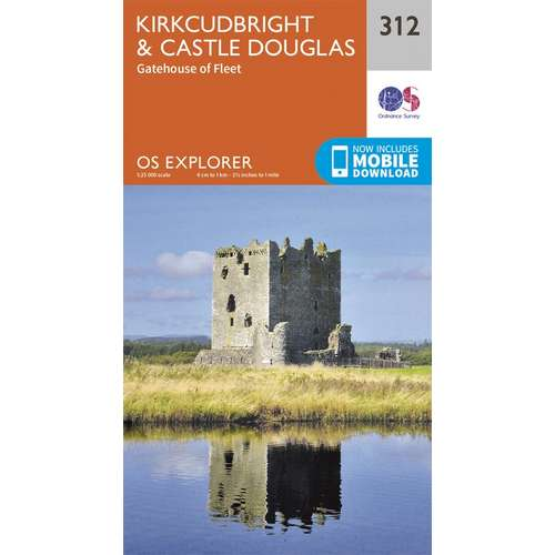 Explorer 312 1:25000 Kirkcudbright & Castle Douglas, Dumfries & Galloway