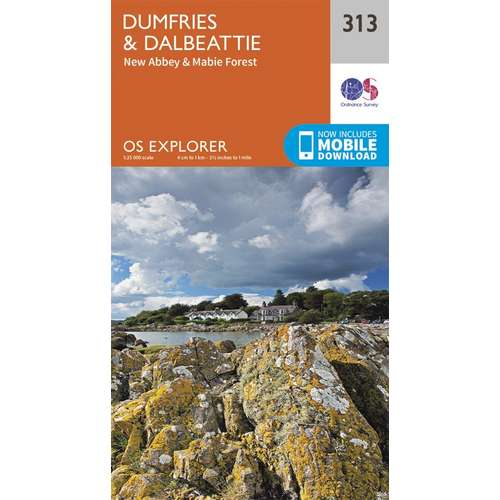 Explorer 313 1:25000 Dumfries & Dalbeattie, Dumfries & Galloway