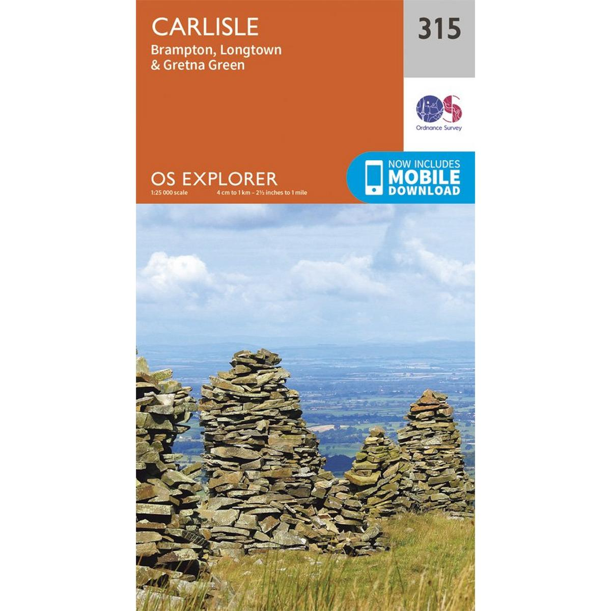 Ordnance Survey OS Explorer Map 315 Carlisle