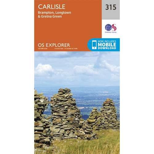 Explorer 315 1:25000 Carlisle, Cumbria
