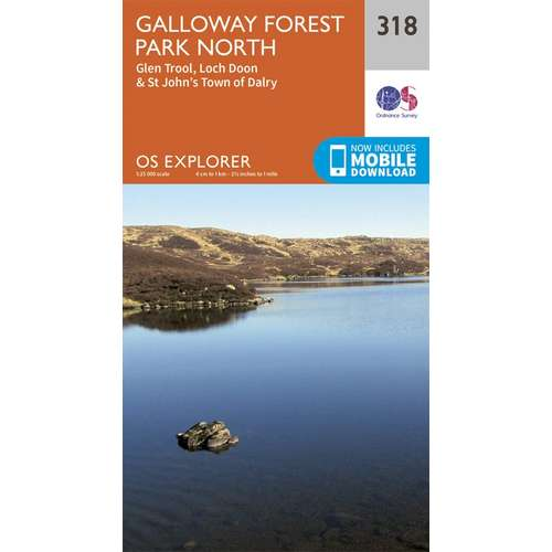 Explorer 318 1:25000 Galloway Forest Park North, Dumfries & Galloway