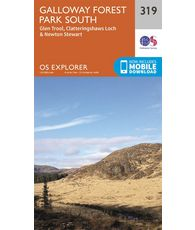 Explorer 319 1:25000 Galloway Forest Park South, Dumfries & Galloway