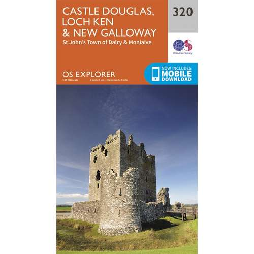 Explorer 320 1:25000 Castle Douglas, Loch Ken & New Galloway, Dumfries & Galloway