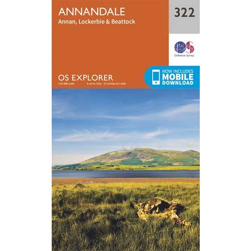 Explorer 322 1:25000 Annandale, Dumfries & Galloway