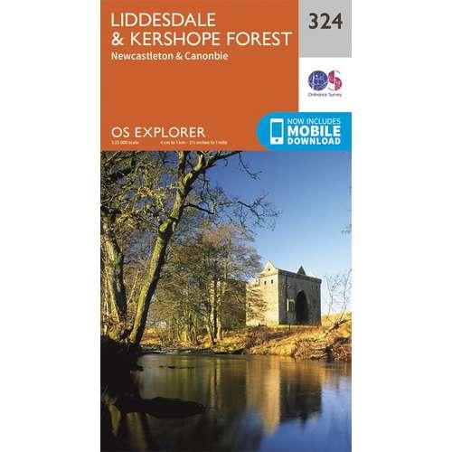Explorer 324 1:25000 Liddesdale & Kershope Forest, Argyll & Bute