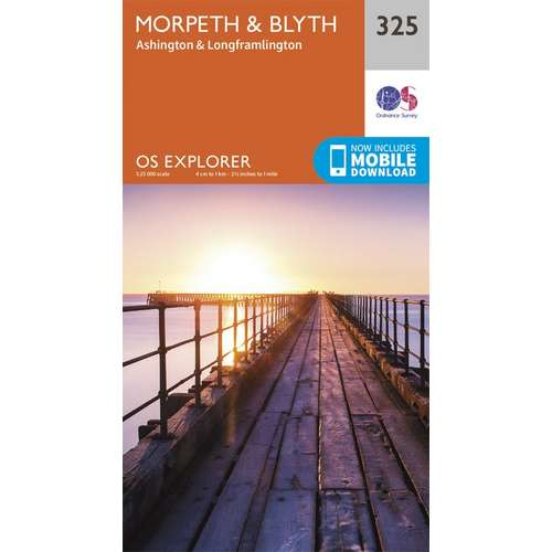 Explorer 325 1:25000 Morpeth & Blyth, Northumberland